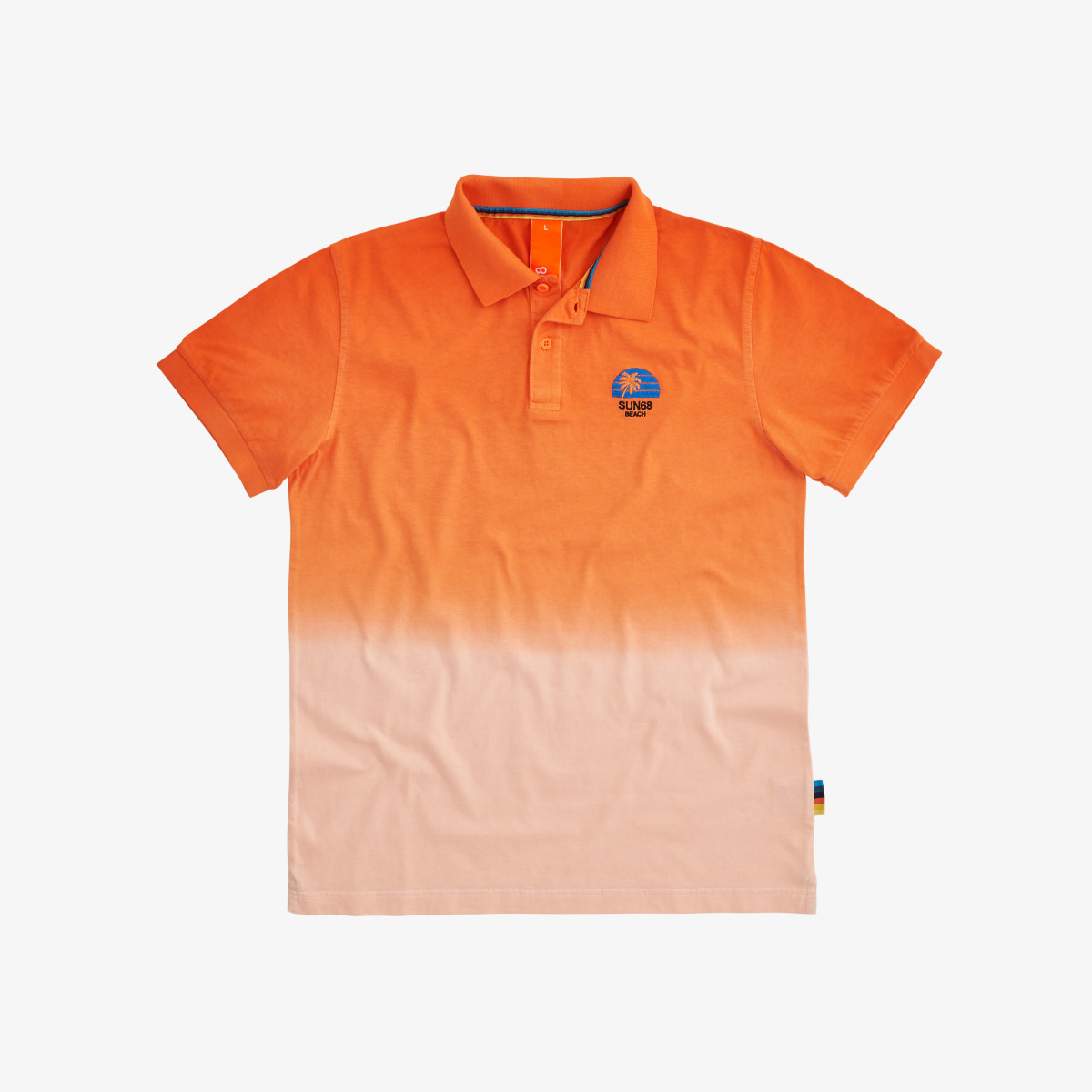 POLO HANG DYED ARANCIO FLUO
