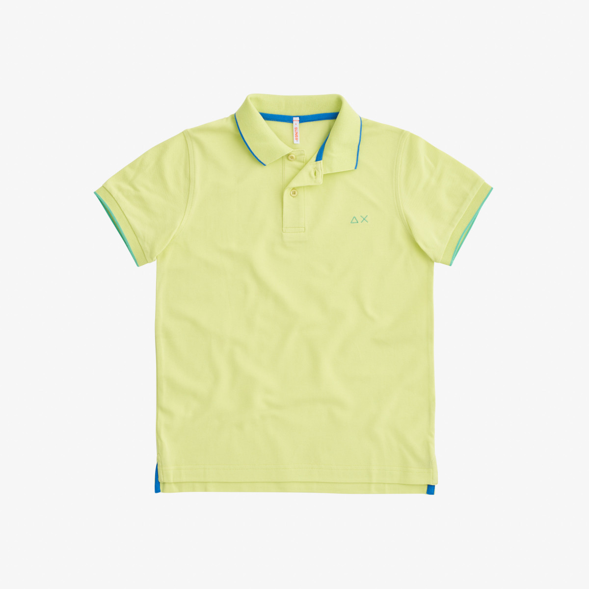 BOY'S POLO SMALL STRIPE ON COLLAR EL. GIALLO LIMONE