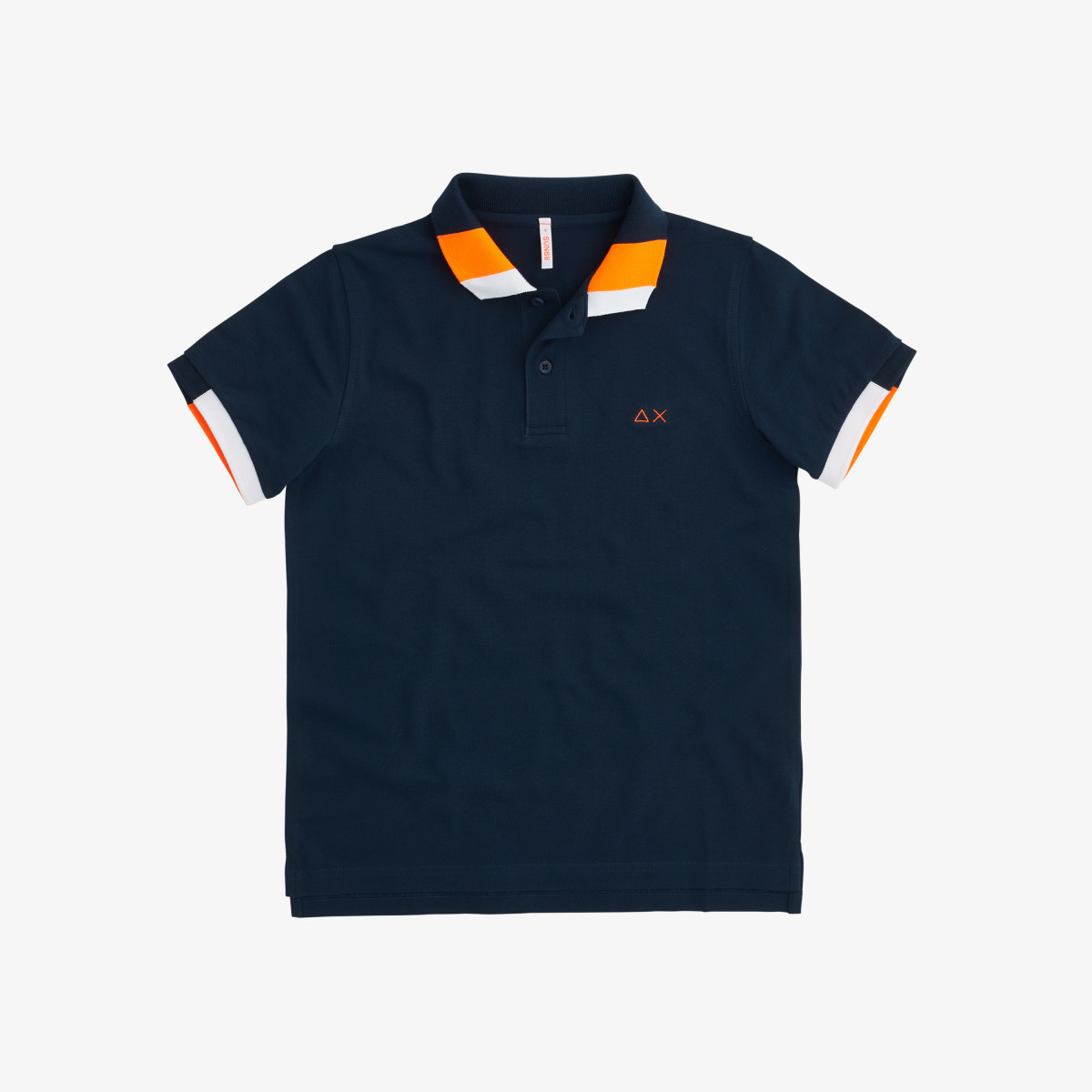 BOY'S POLO FLUO MULTICOLOR EL. NAVY BLUE
