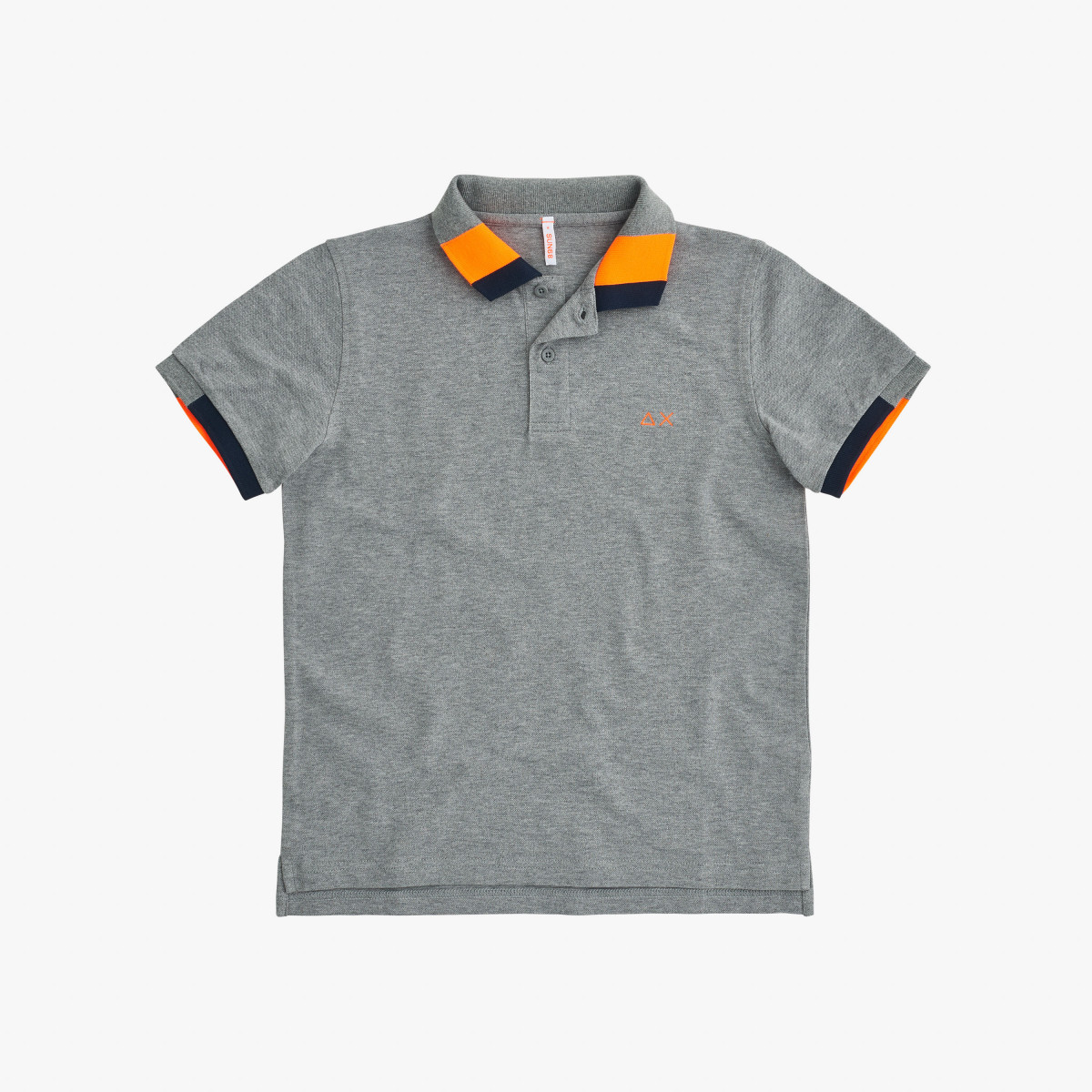 BOY'S POLO FLUO MULTICOLOR EL. GRIGIO MEDIO