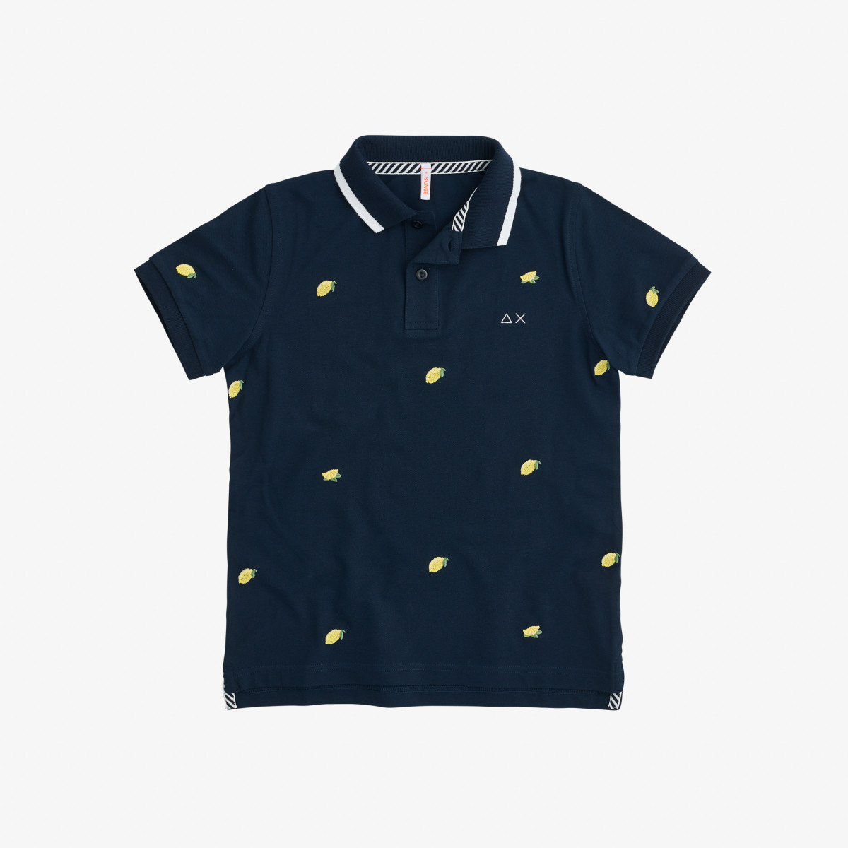 BOY'S POLO FULL EMBRODERY EL. NAVY BLUE