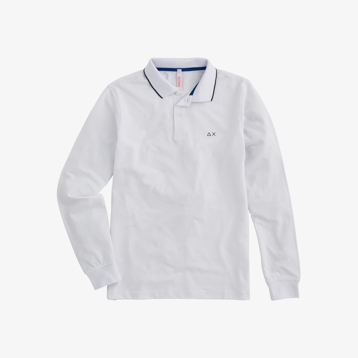 POLO EL. SMALL STRIPES L/S BIANCO