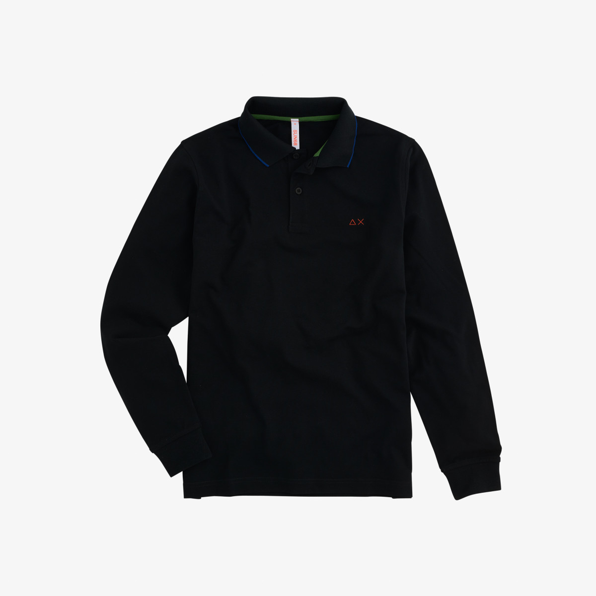 POLO EL. SMALL STRIPES L/S BLACK