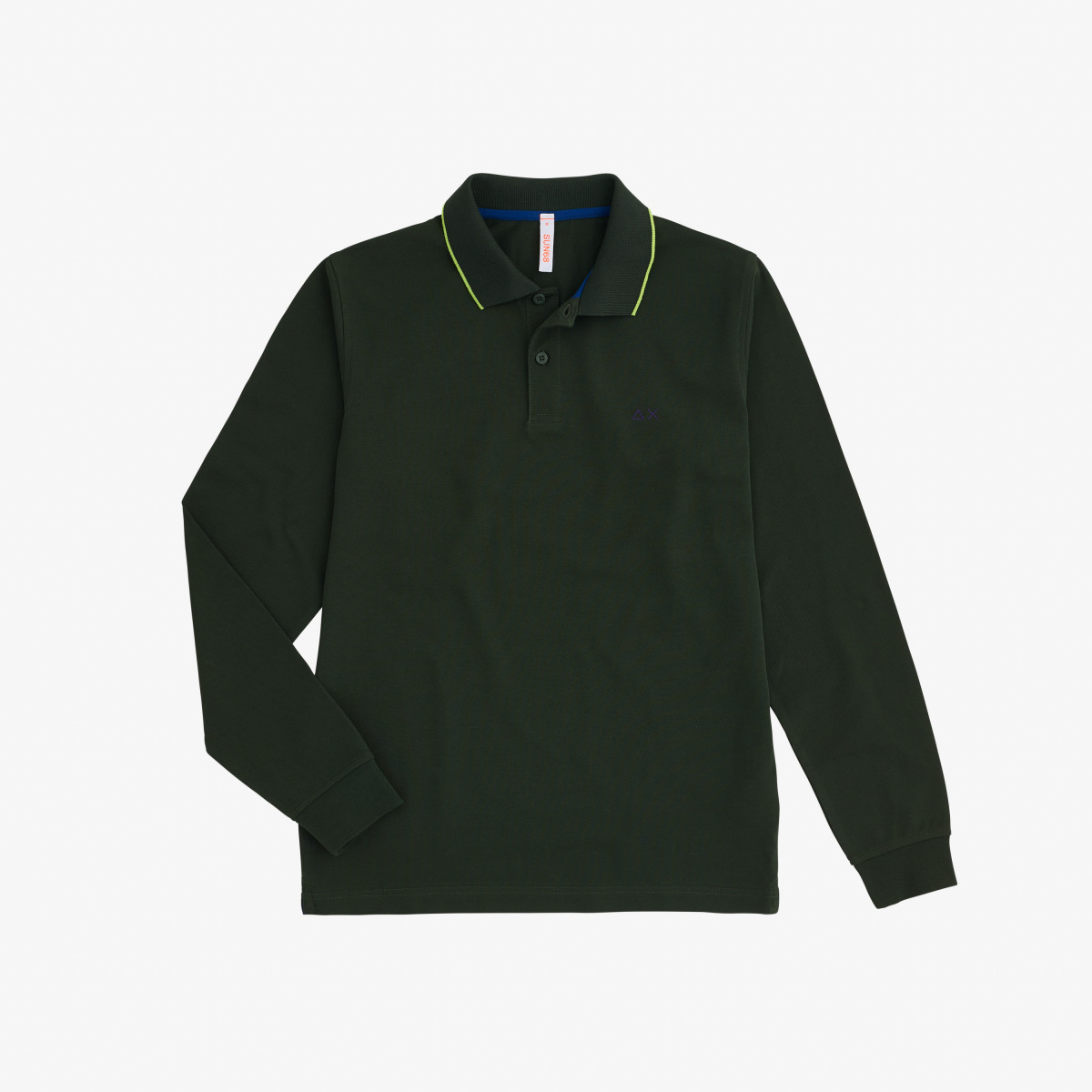 POLO EL. SMALL STRIPES L/S MILITARE SCURO