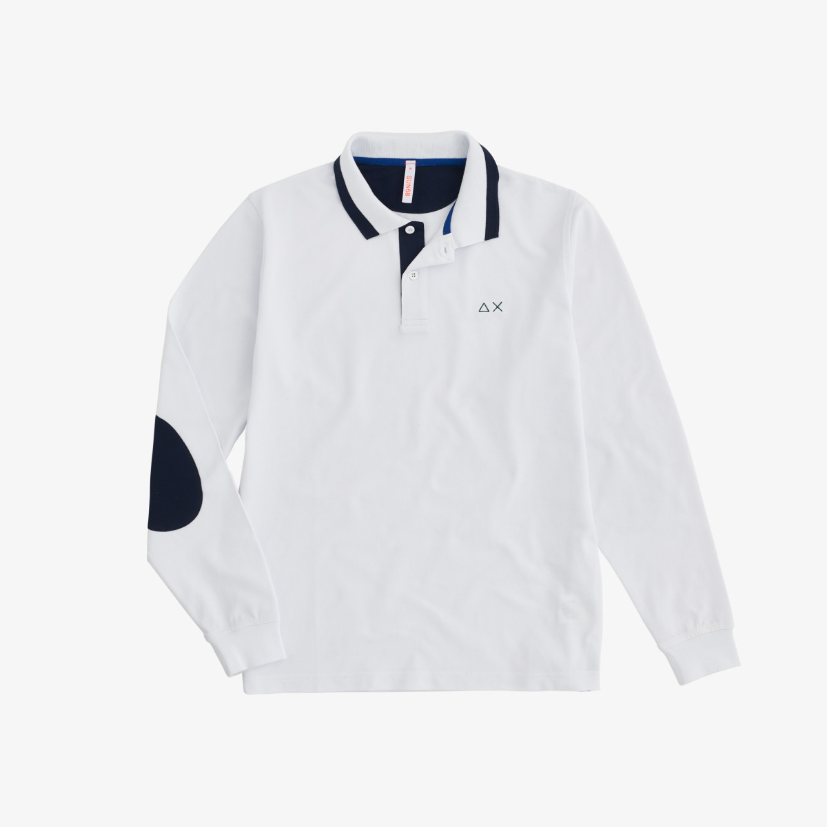 POLO EL. BIG STRIPES L/S BIANCO