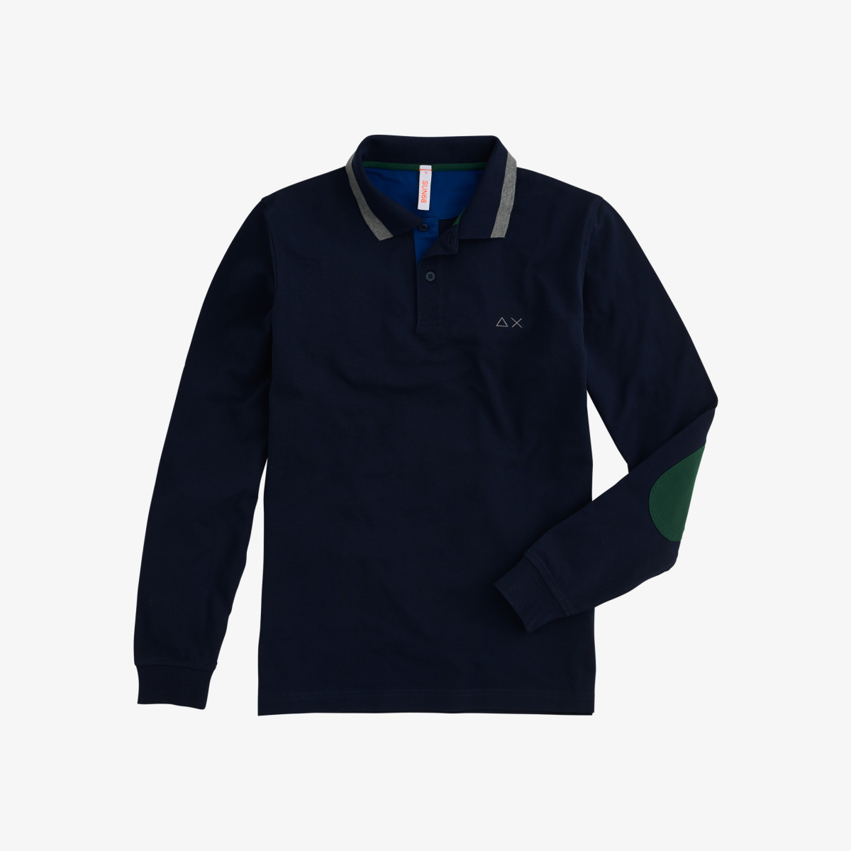 POLO EL. BIG STRIPES L/S NAVY BLUE