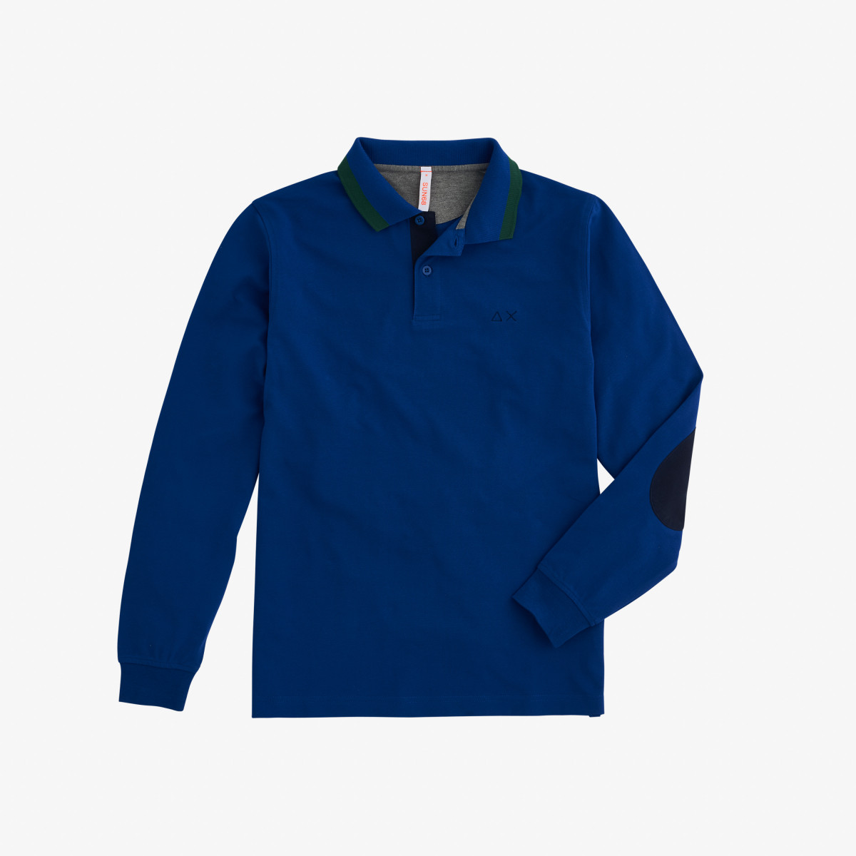 POLO EL. BIG STRIPES L/S DEEP BLUE