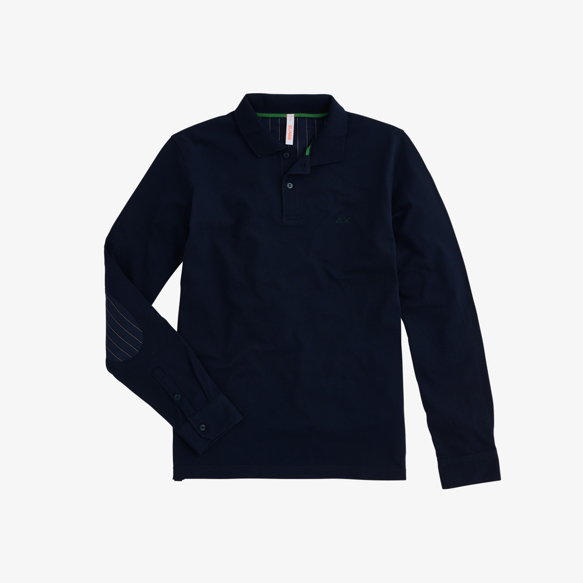 POLO EL. ELBOW SHIRT FABRIC L/S NAVY BLUE