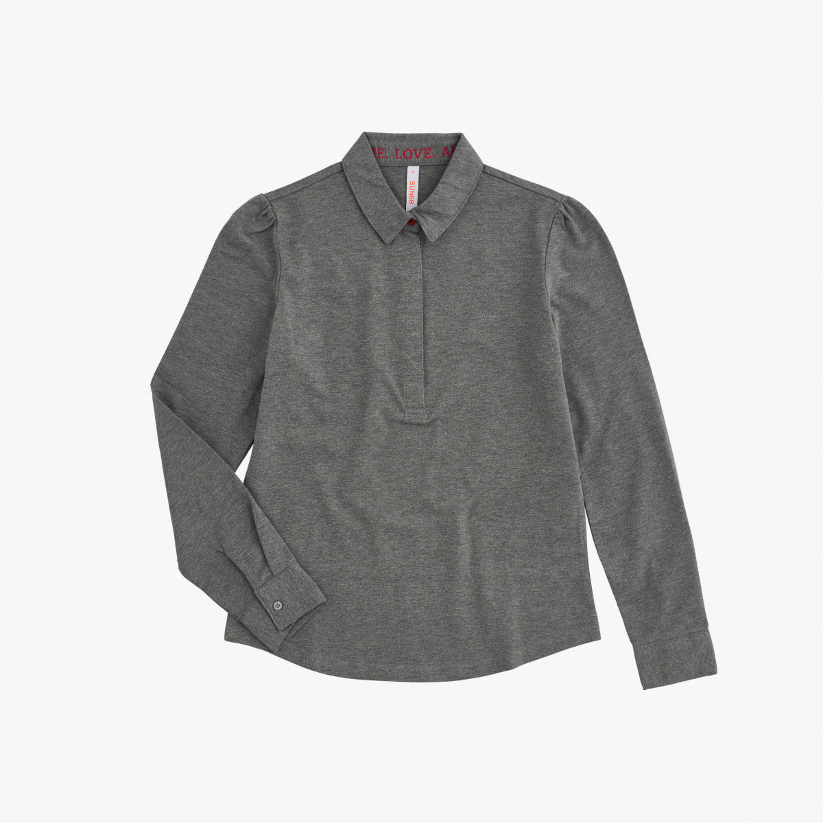 POLO EL. PRINCESS L/S GRIGIO MEDIO