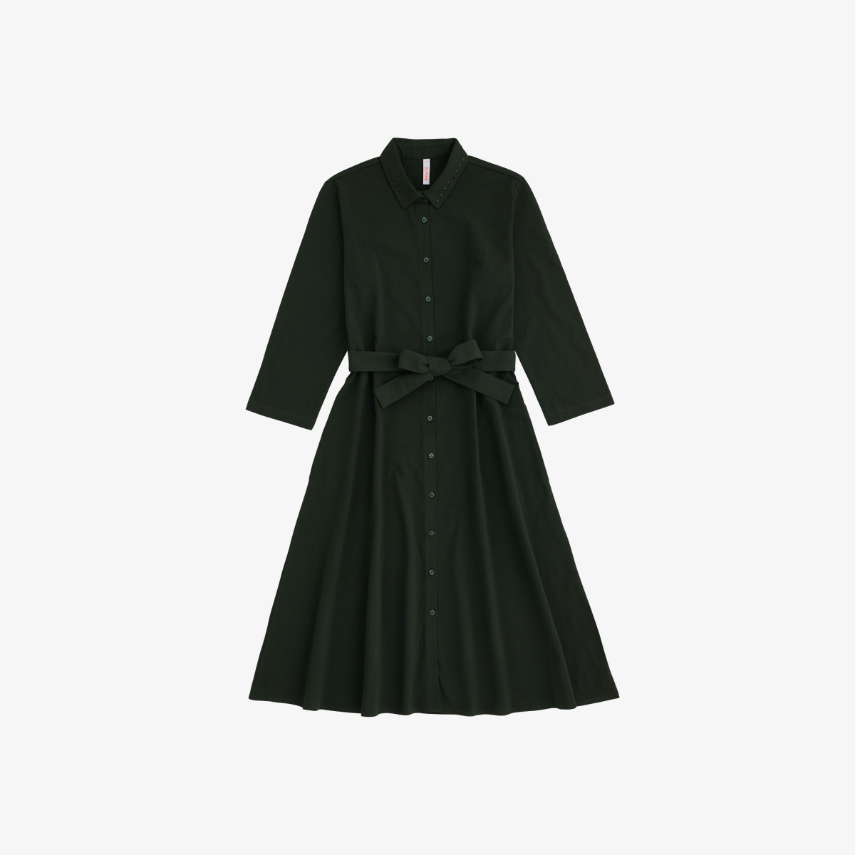 LONG DRESS 3/4 SLV DARK MILITARY