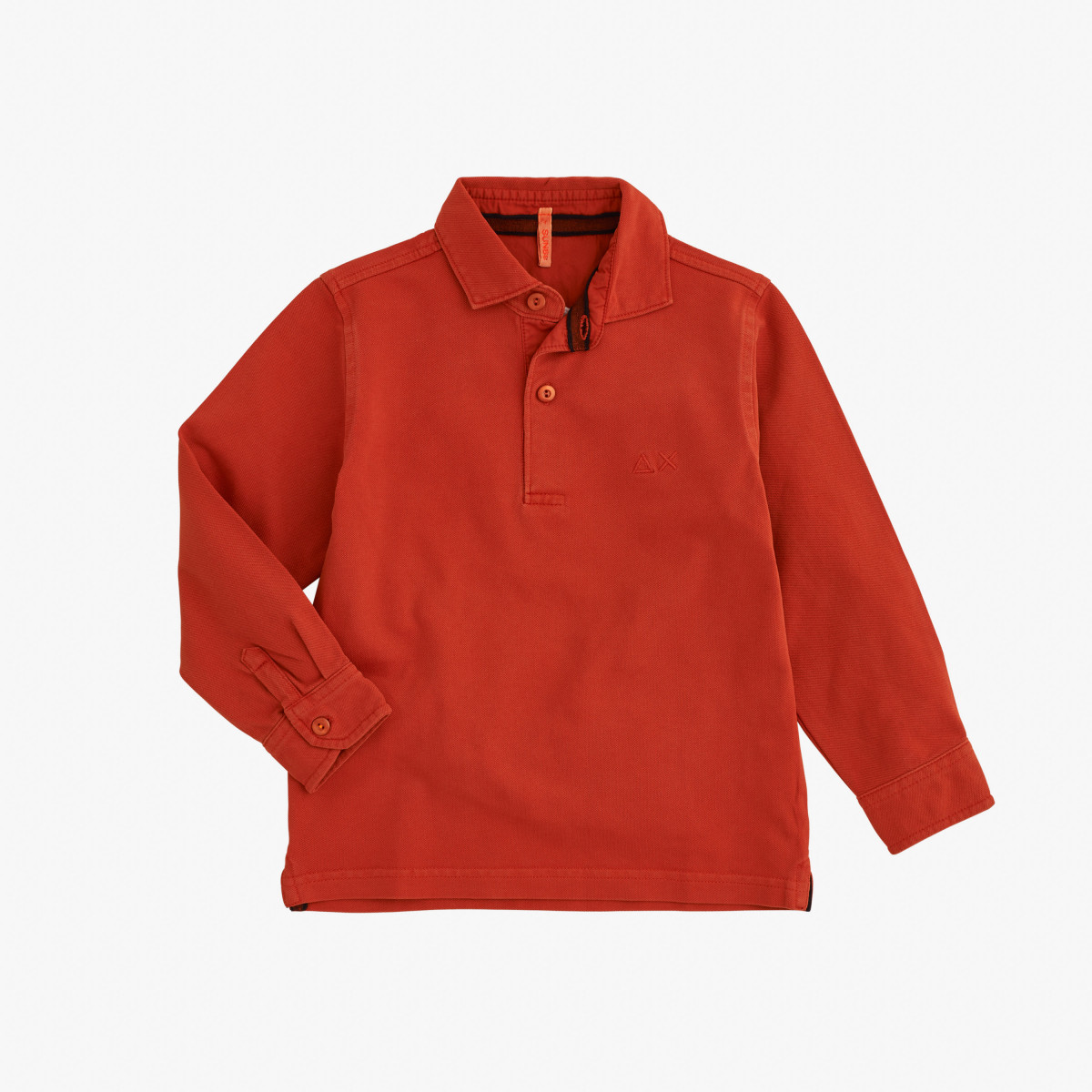 BOY'S POLO COLD DYE L/S RUST