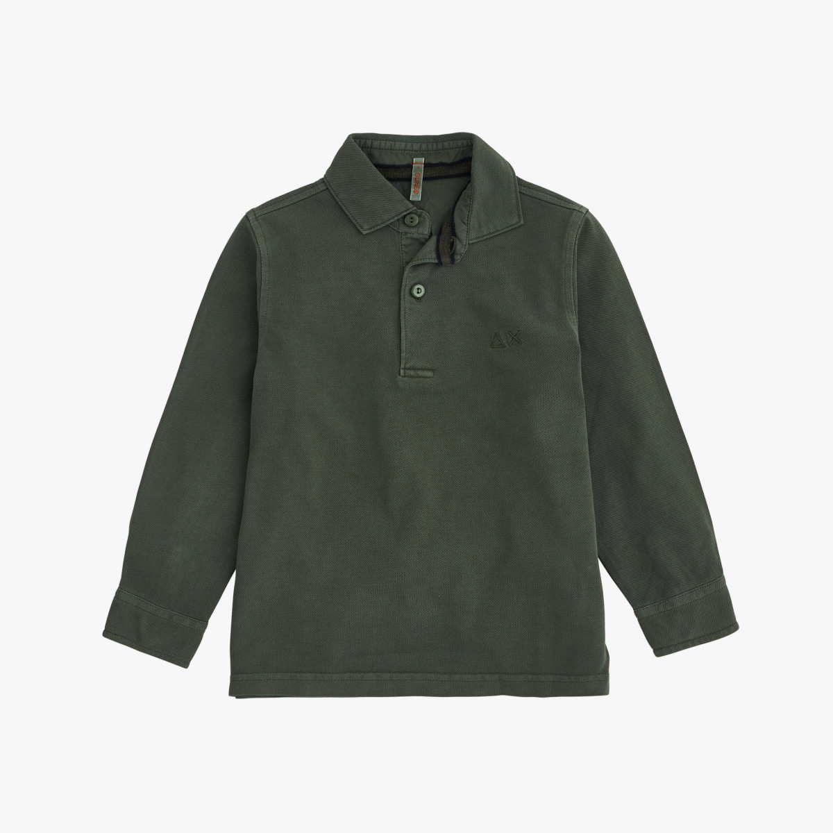 BOY'S POLO COLD DYE L/S OLIVA
