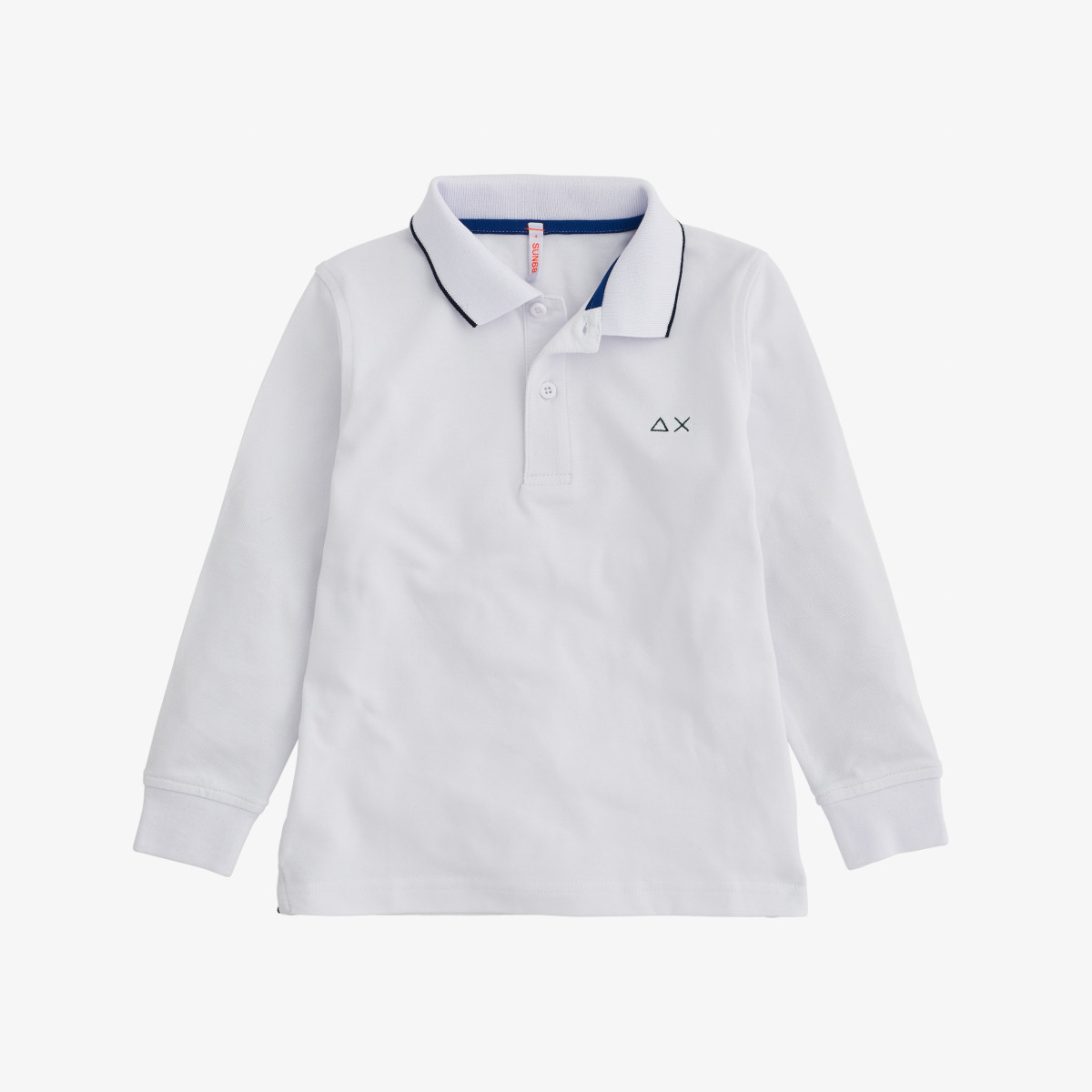 BOY'S POLO SMALL STRIPES L/S BIANCO