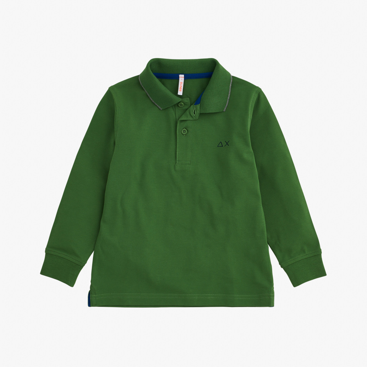 BOY'S POLO SMALL STRIPES L/S VERDE BOTTIGLIA
