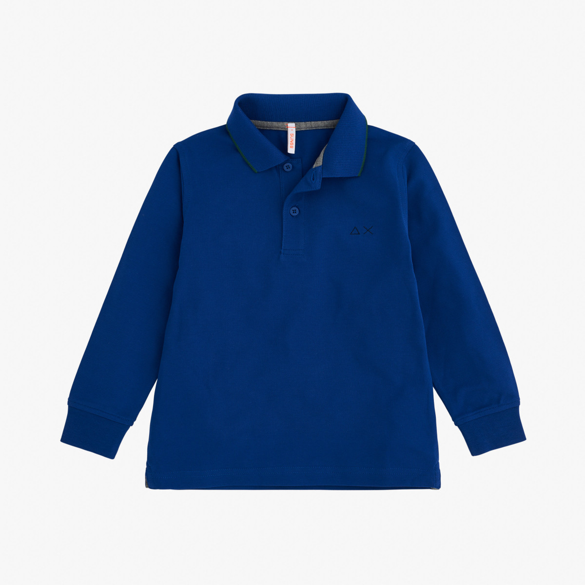 BOY'S POLO SMALL STRIPES L/S BLUE PROFONDO