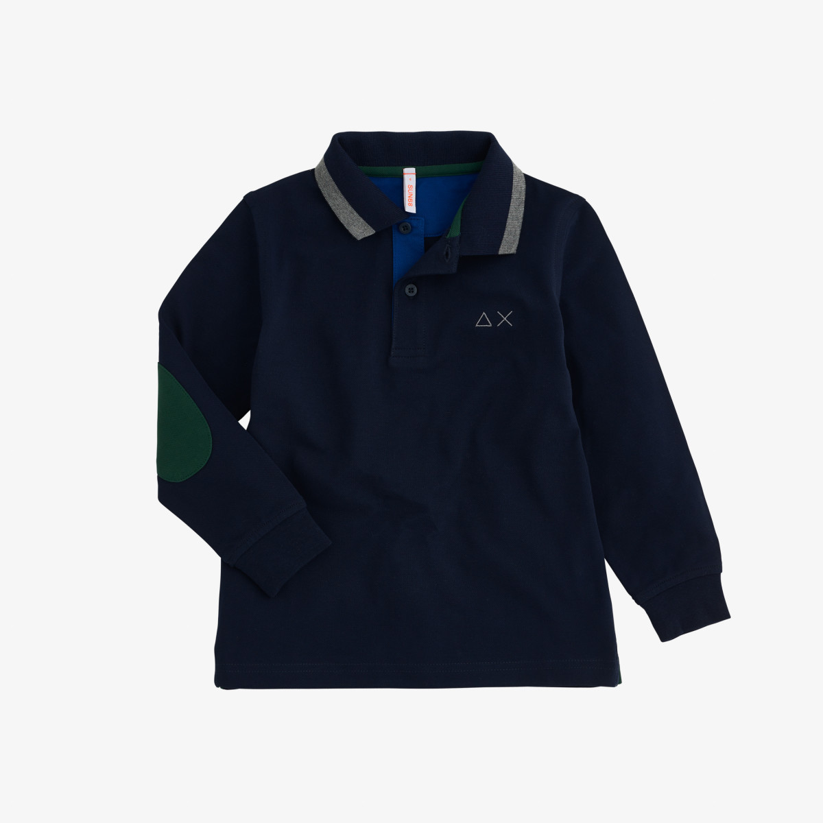 BOY'S POLO BIG STRIPES L/S NAVY BLUE