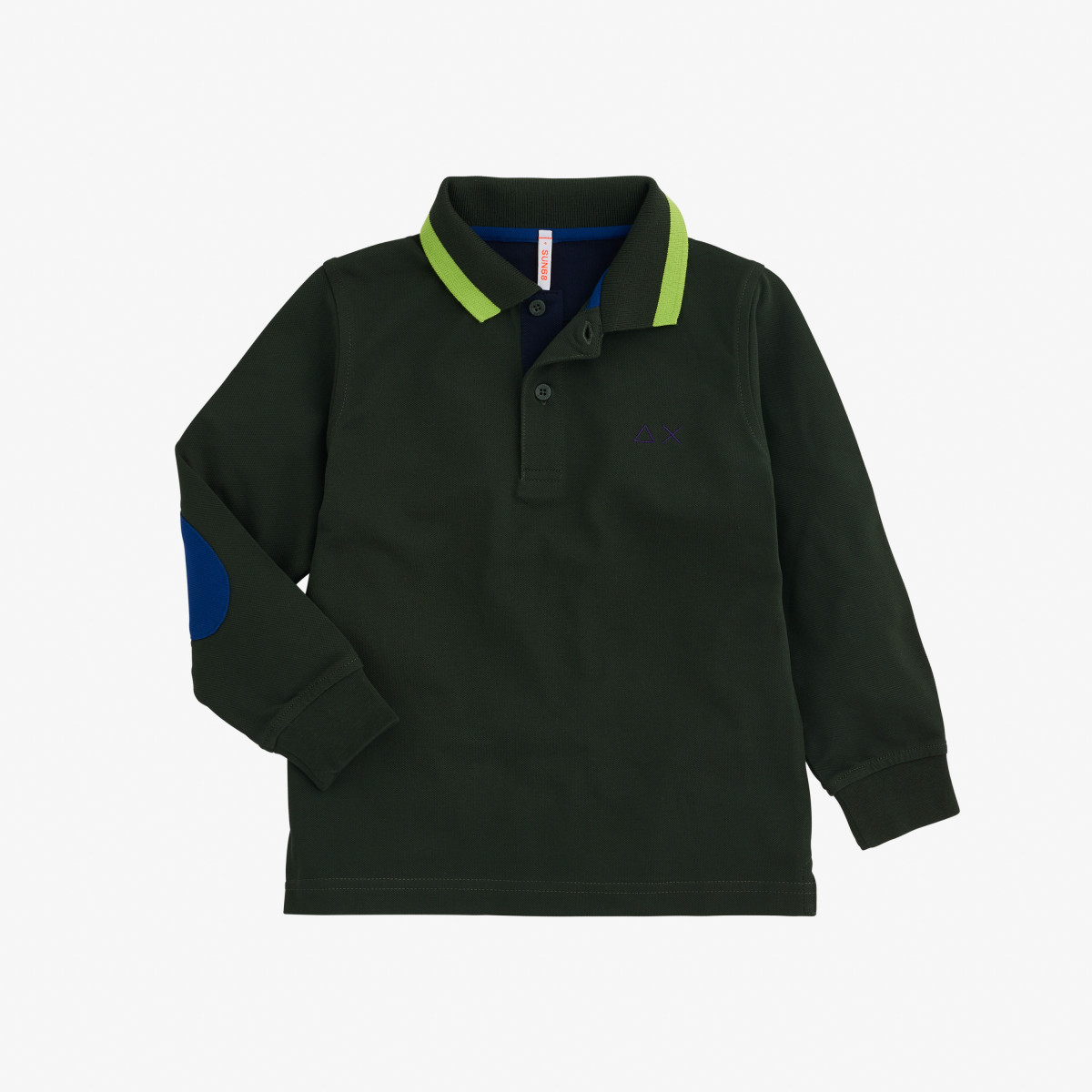 BOY'S POLO BIG STRIPES L/S MILITARE SCURO