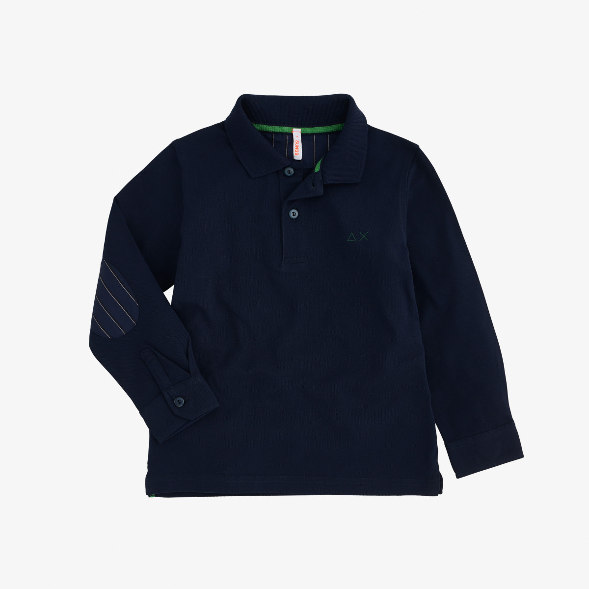 BOY'S POLO SHIRT FABRIC ELBOW L/S NAVY BLUE