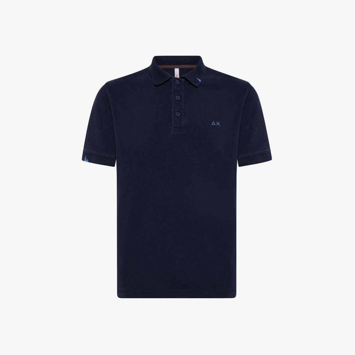 POLO VINTAGE CONTRAST STICHING S/S NAVY BLUE