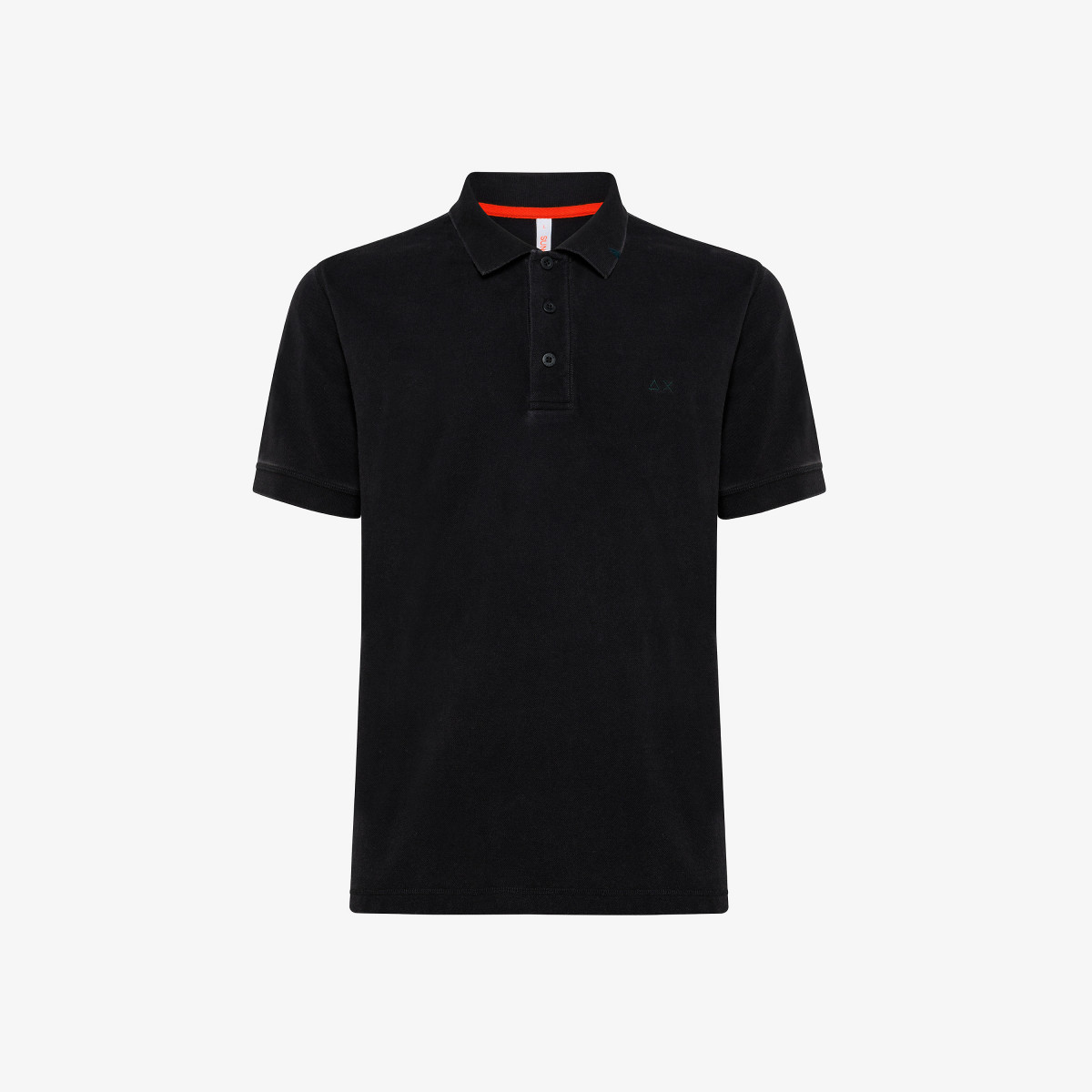 POLO VINTAGE CONTRAST STICHING S/S NERO
