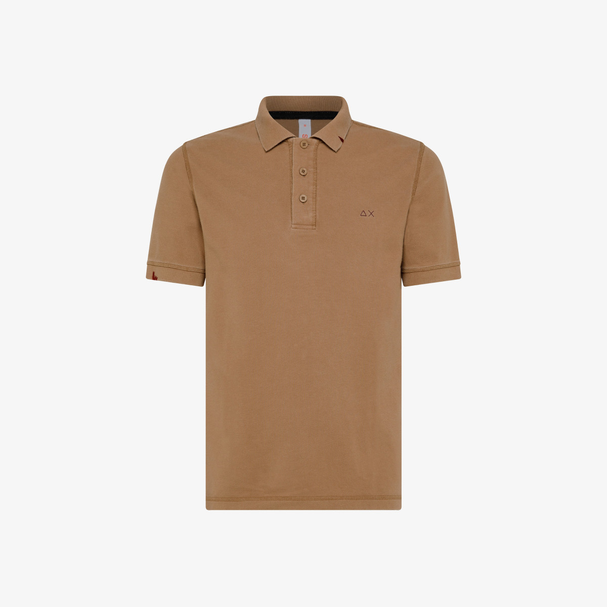 POLO VINTAGE CONTRAST STICHING S/S BEIGE