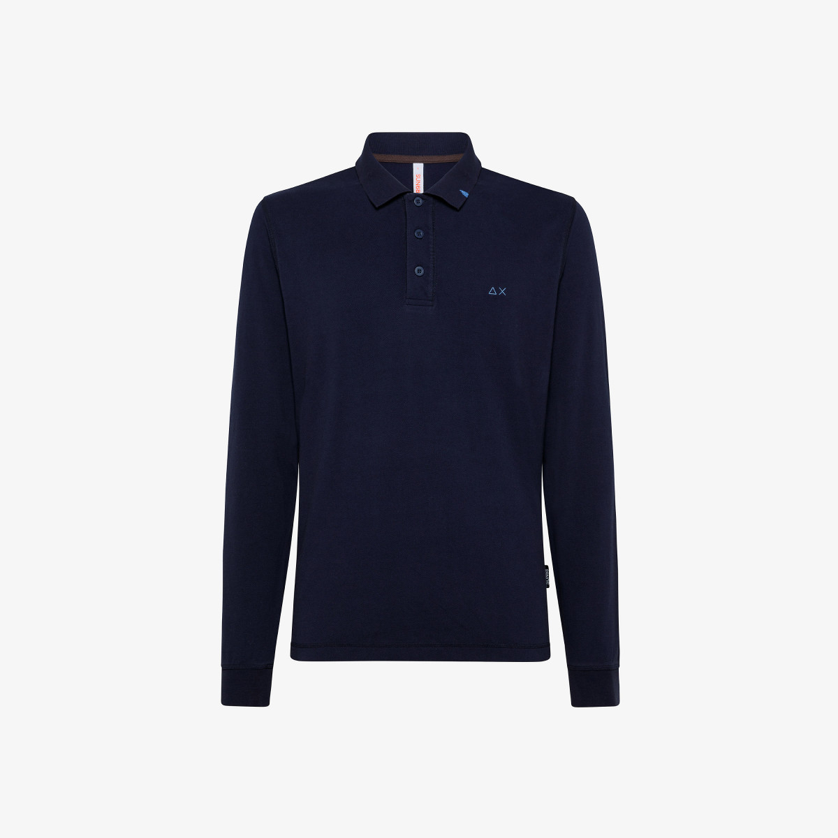 POLO VINTAGE CONTRAST STICHING L/S NAVY BLUE
