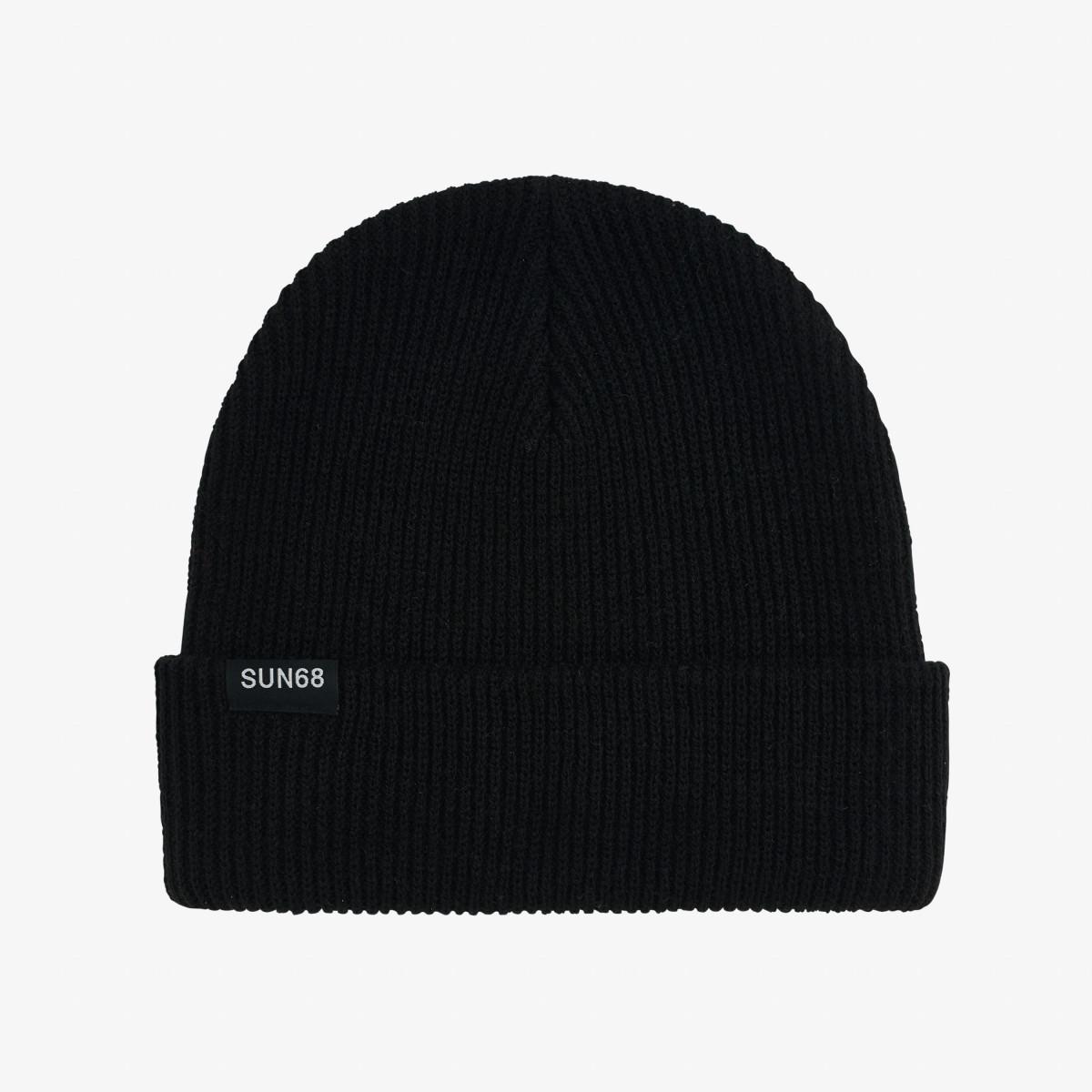 CAP SOLID FUNKY NERO