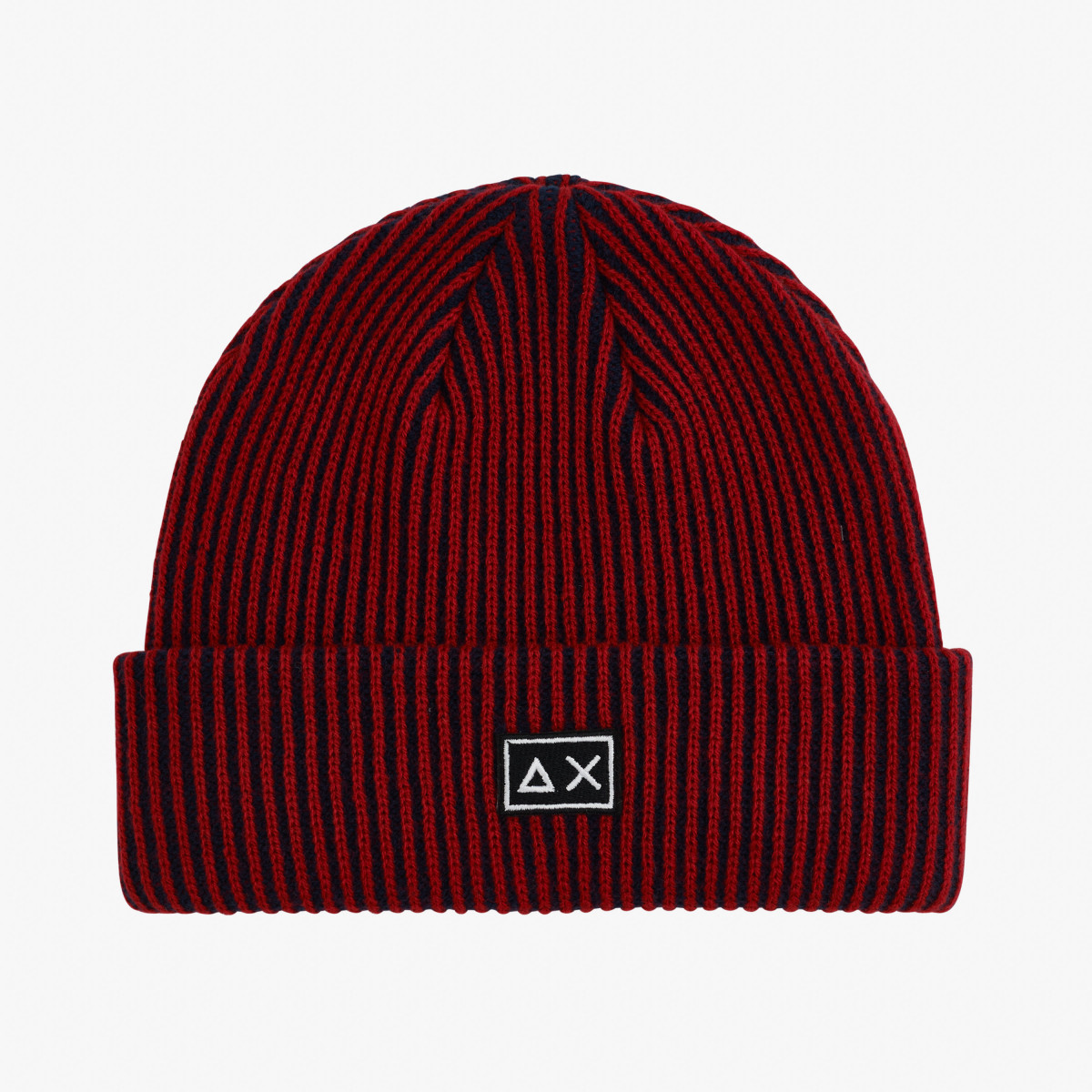 CAP BICOLOR RED/NAVY BLUE