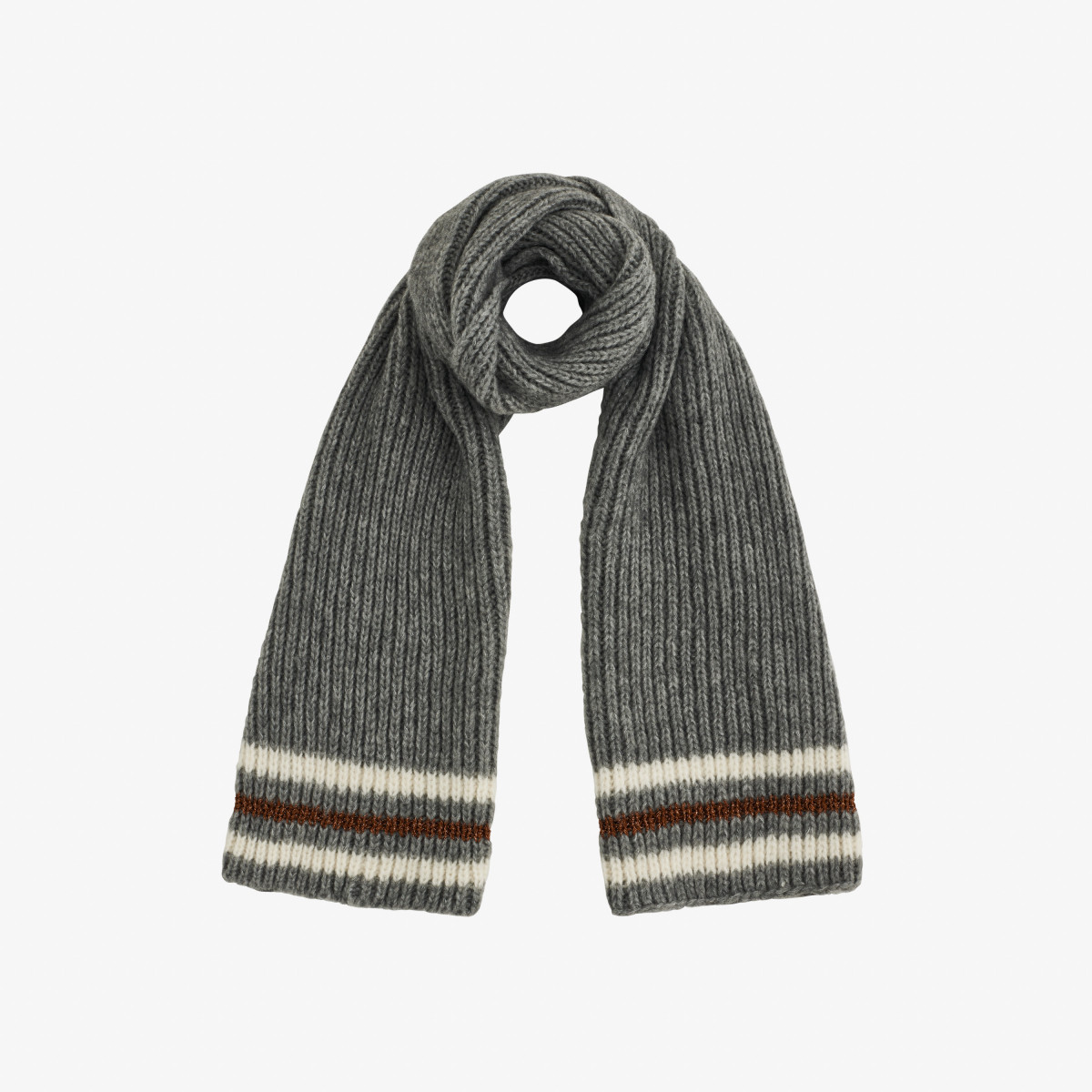 SCARF SPORT LUREX MEDIUM GREY