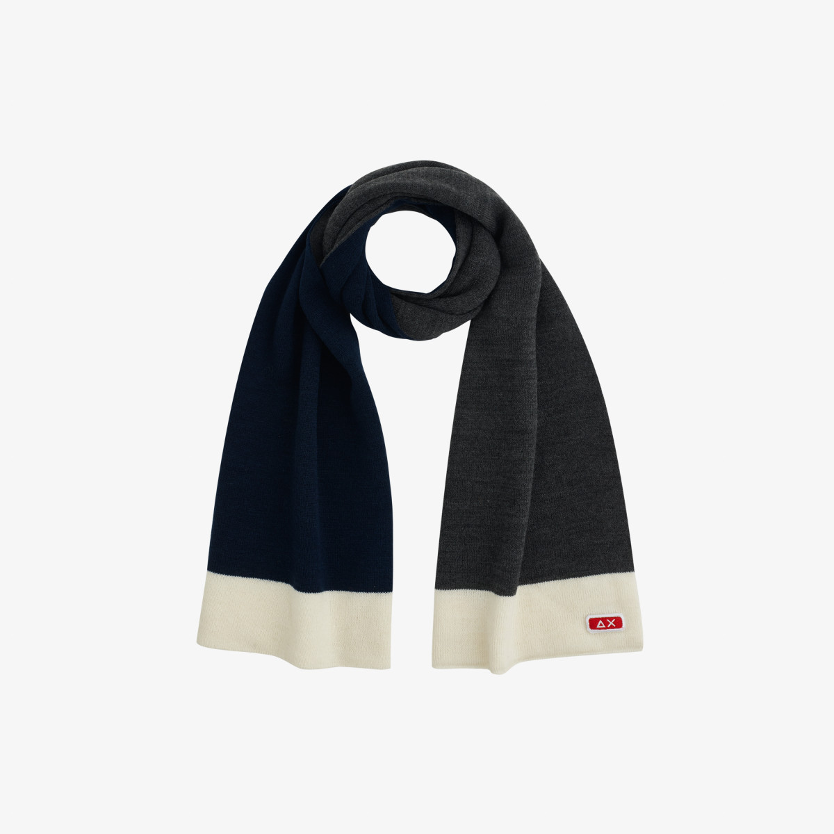 BOY'S SCARF BASIC GRIGIO SCURO