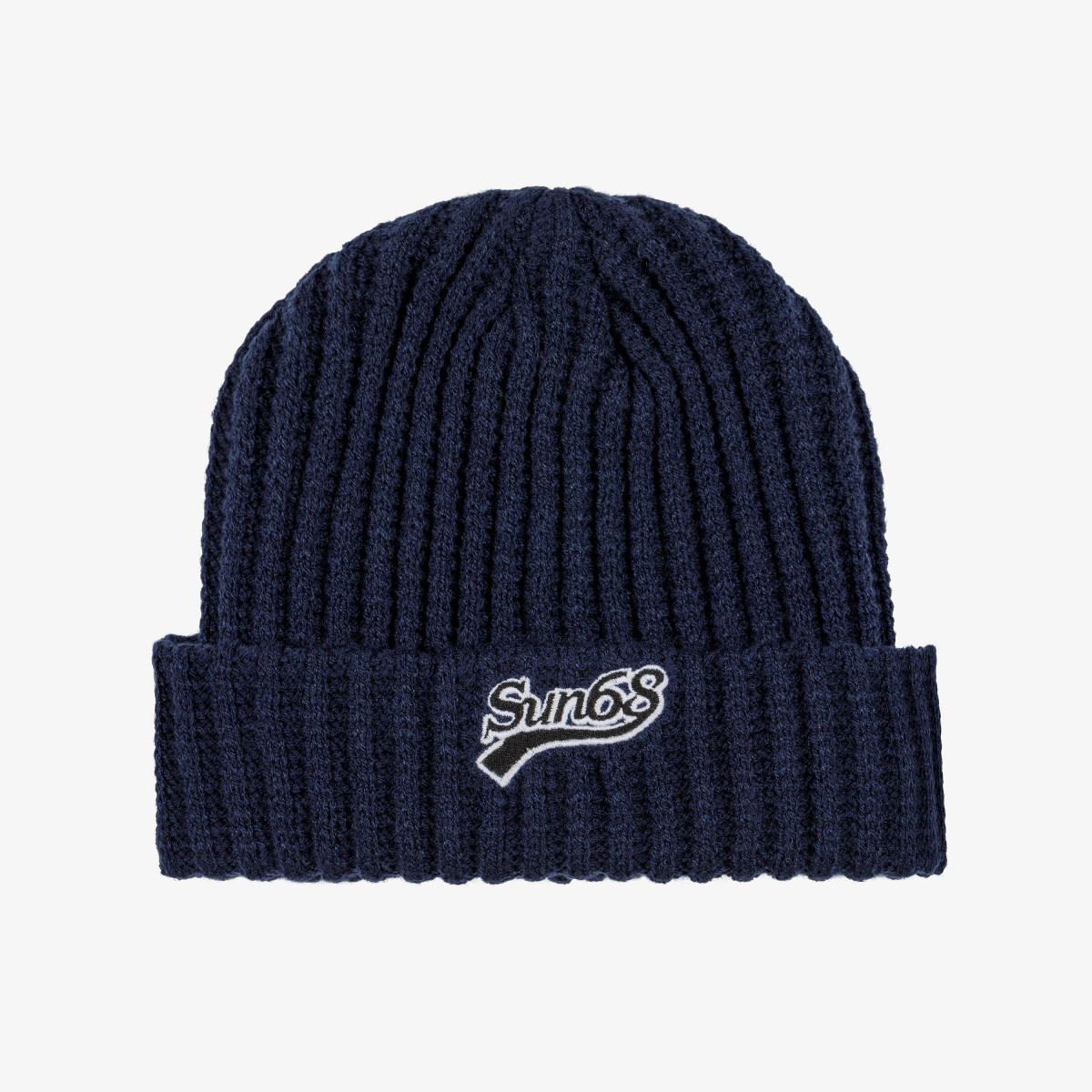CAP THICK KNIT NAVY BLUE