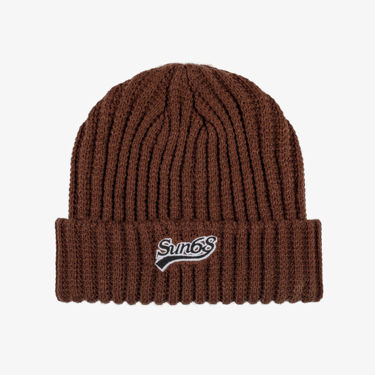 CAP THICK KNIT BROWN