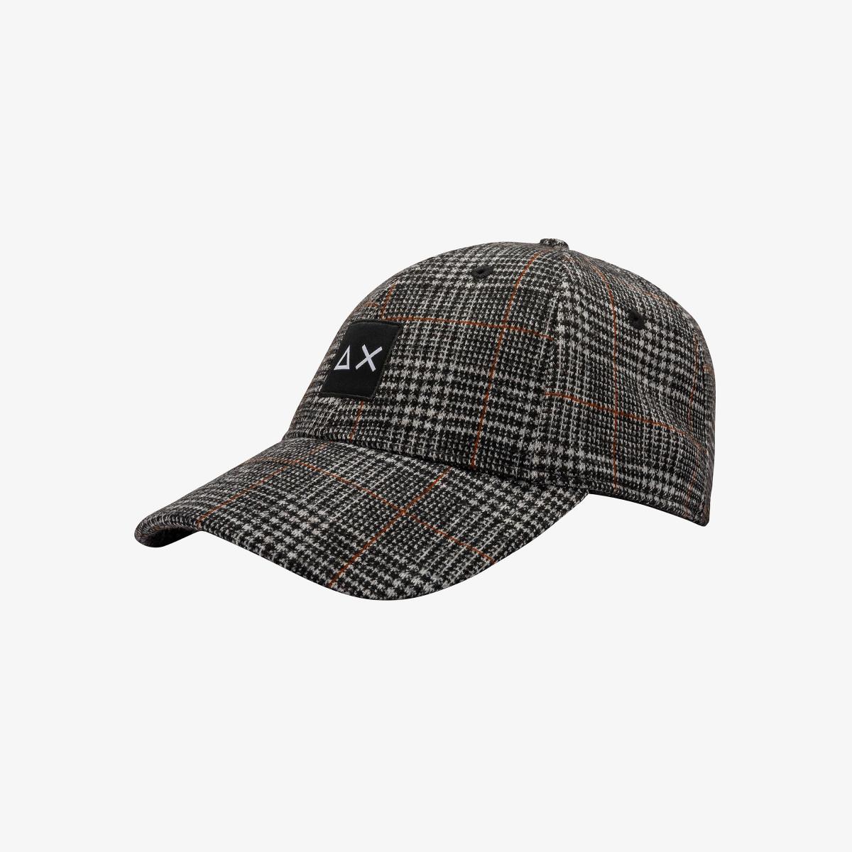 BASEBALL CAP PATTERN BLACK/BROWN