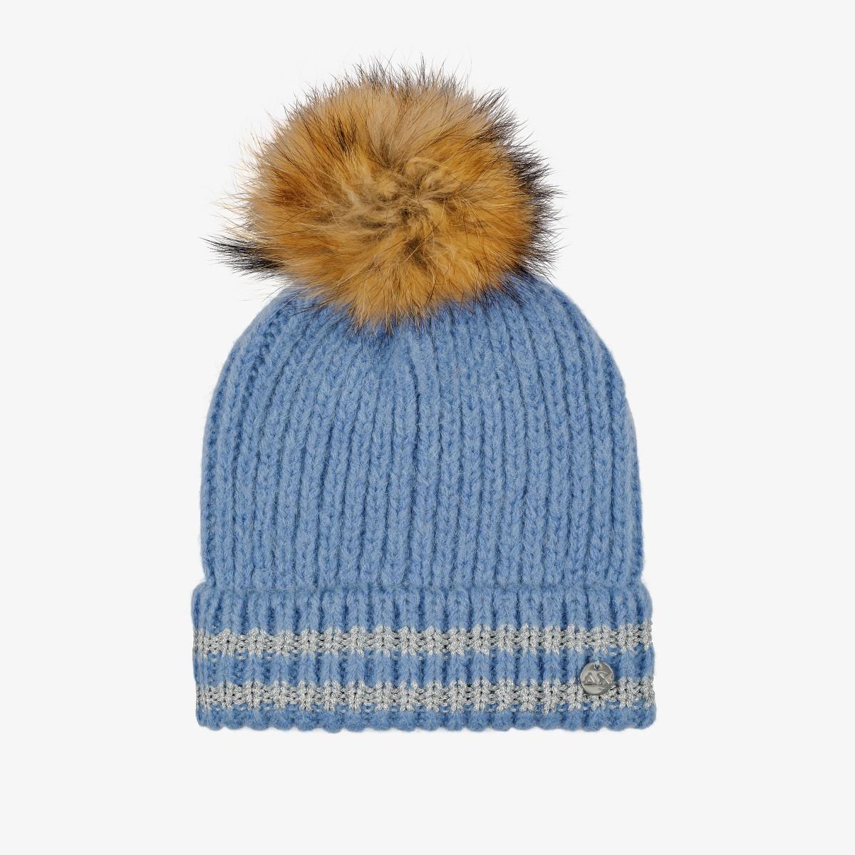 CAP POMPOM LUREX BLUE