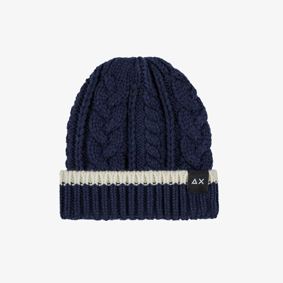 BOY'S CAP CABLE NAVY BLUE