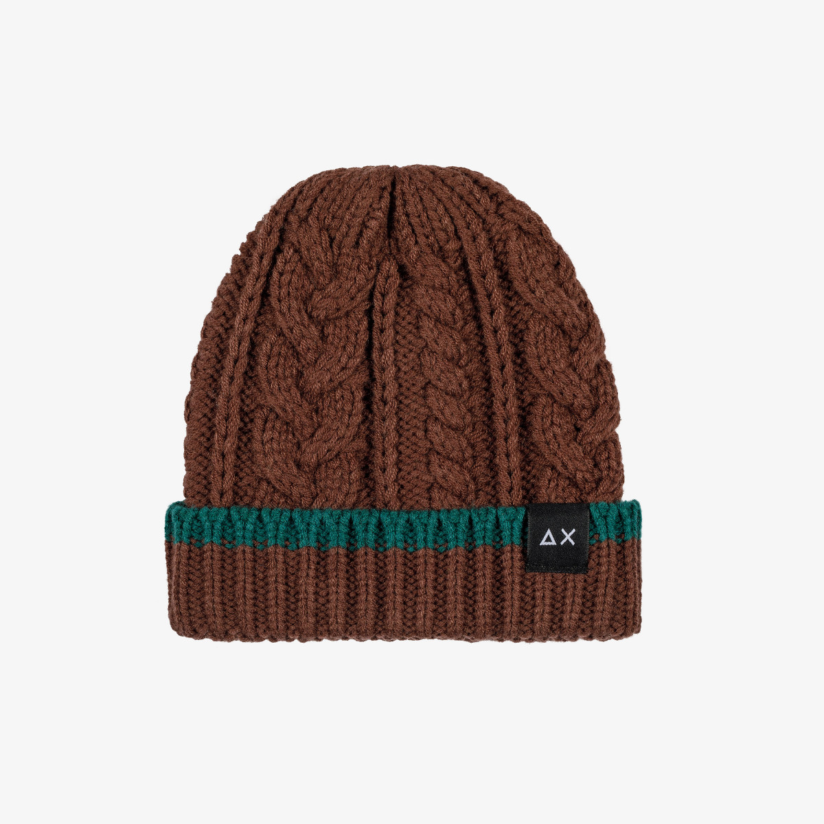 BOY'S CAP CABLE BROWN