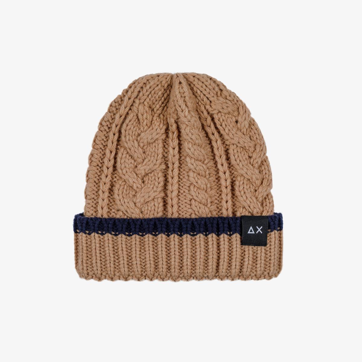 BOY'S CAP CABLE BEIGE