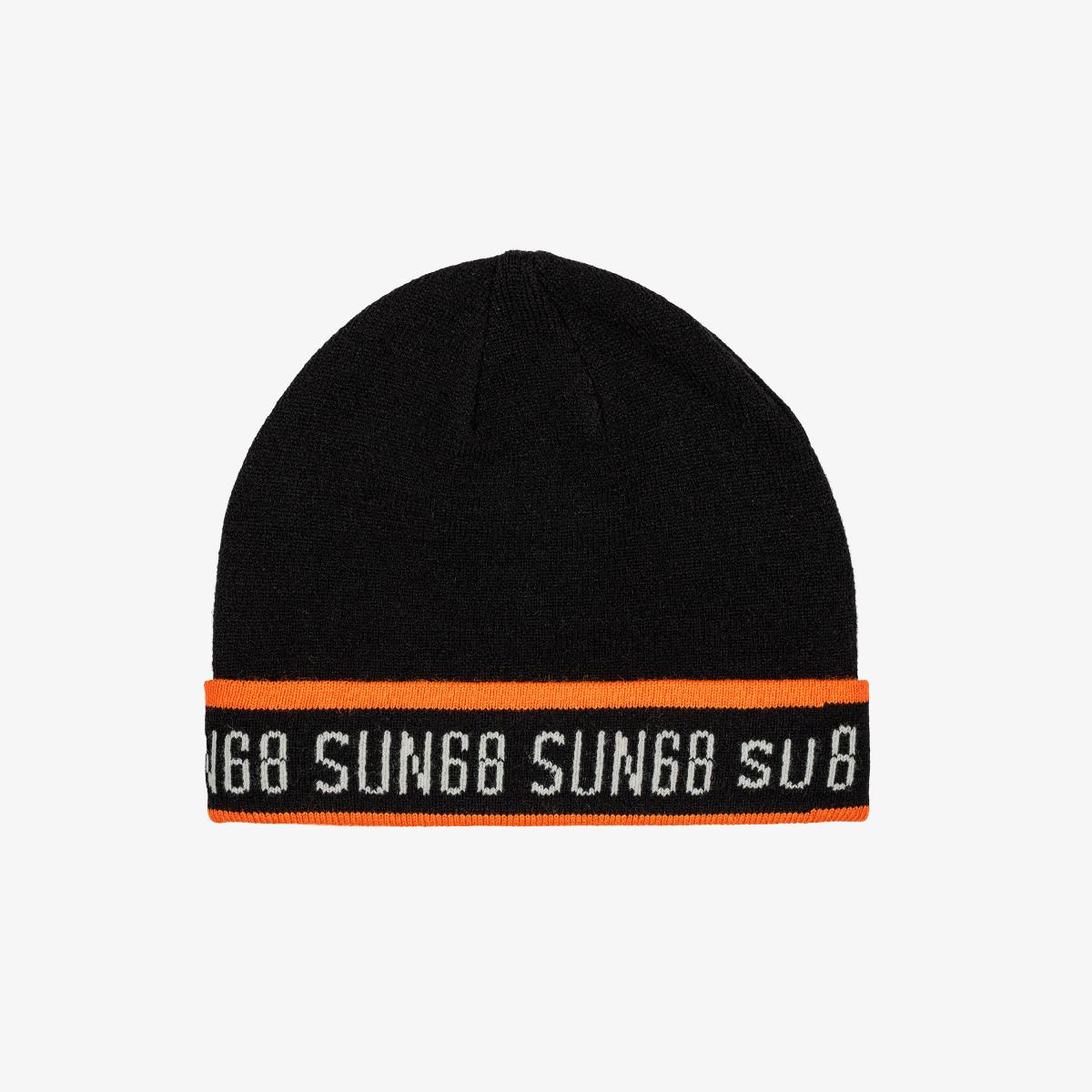 BOY'S CAP FLUO LOGO BLACK