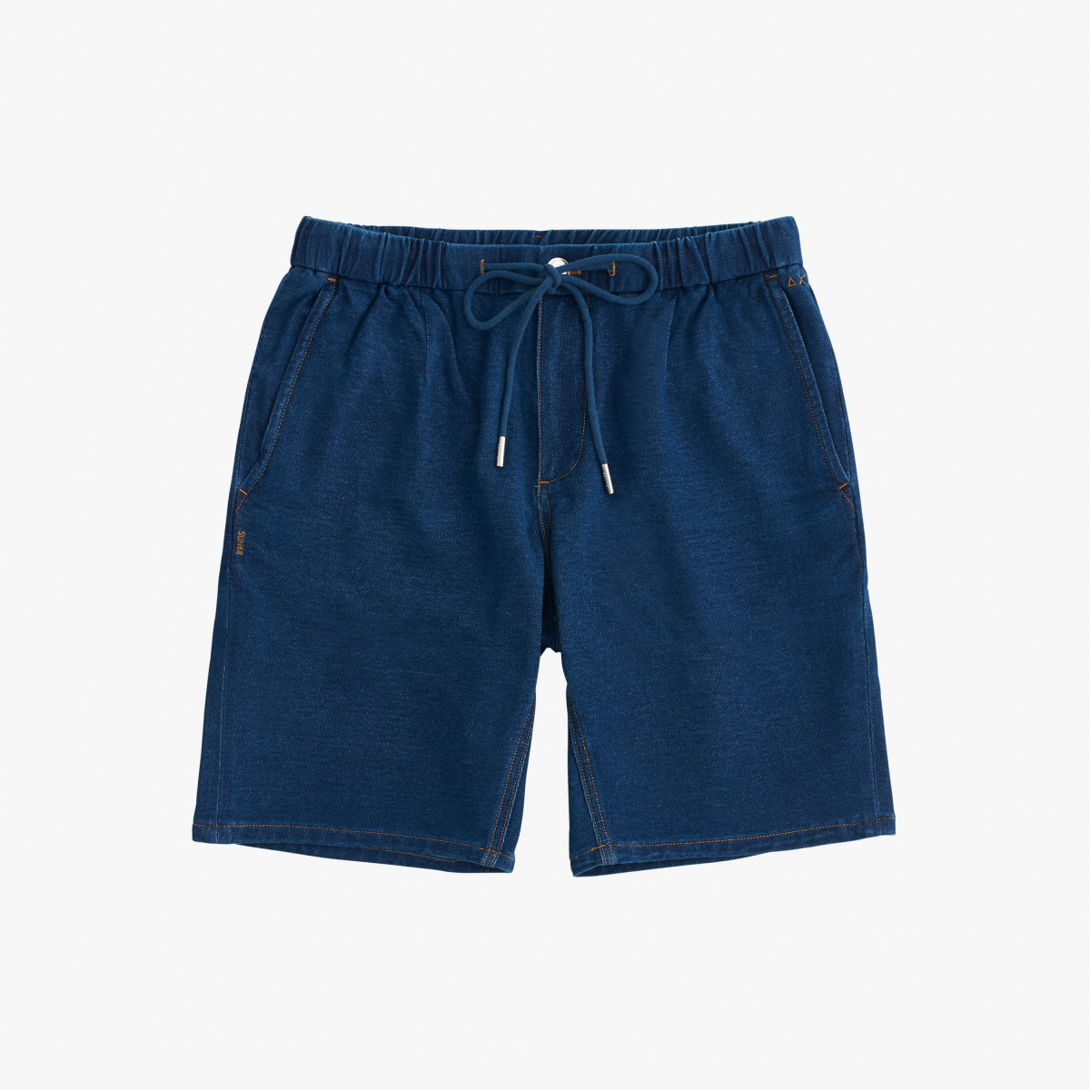 DENIM SHORT COULISSE KNIT AVIO