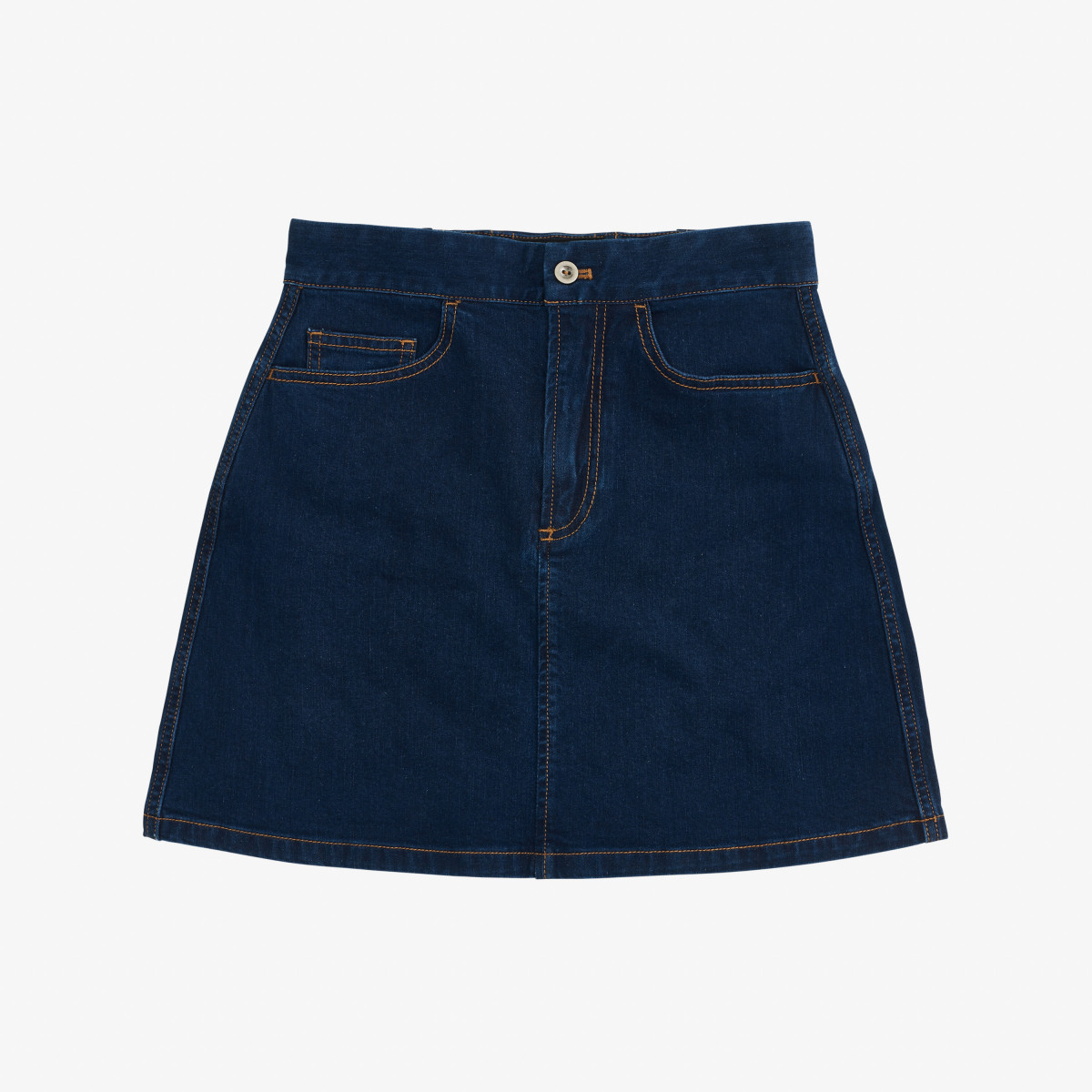 DENIM SKIRT NAVY BLUE