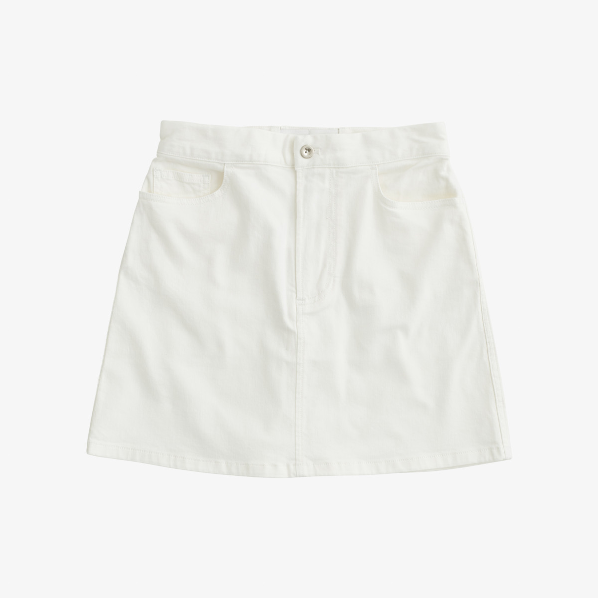 DENIM SKIRT BIANCO PANNA