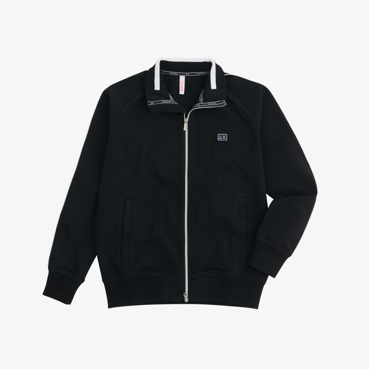 FULL ZIP HERITAGE COTT. FL. BLACK