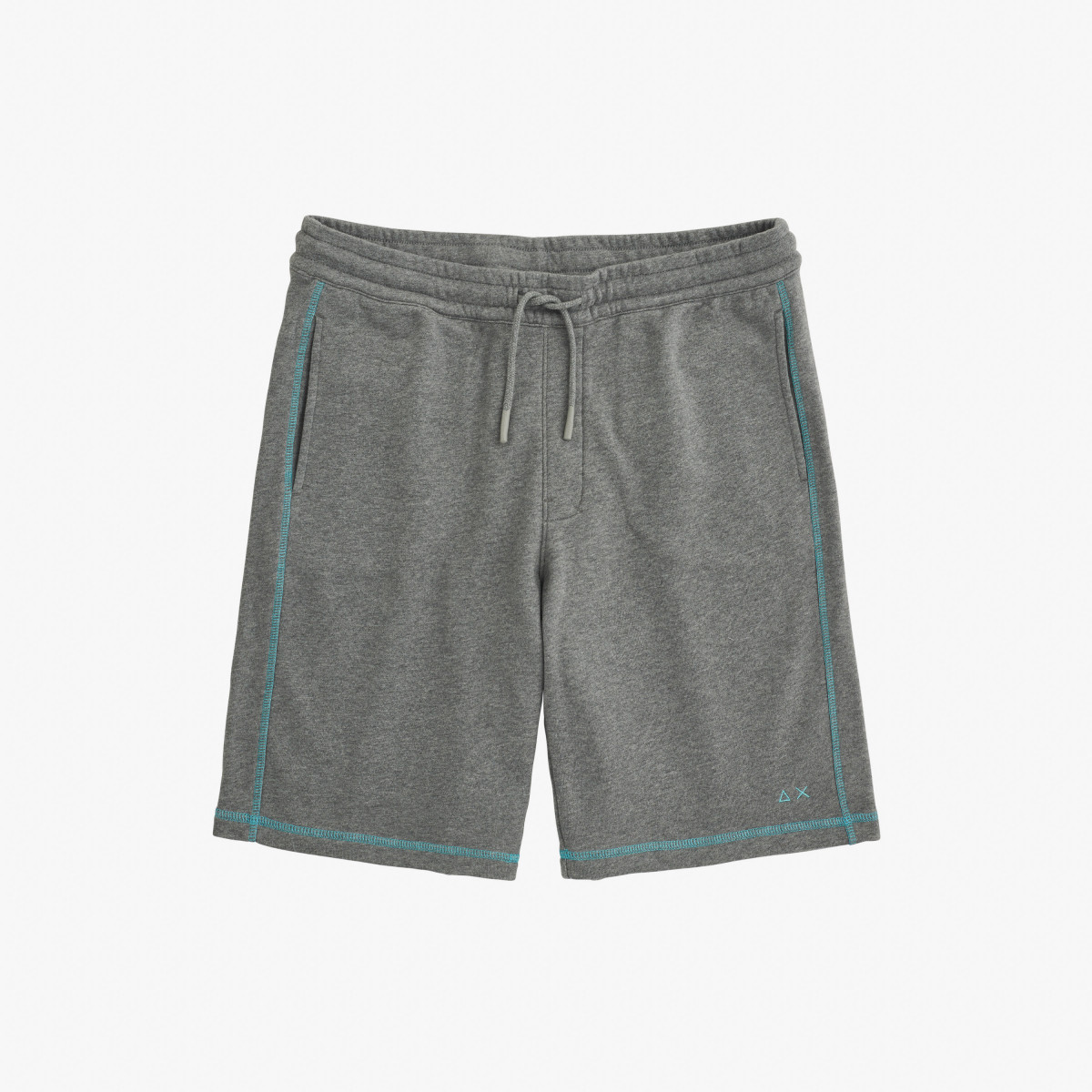 PANT SHORT CONTRAST STITCHING COTTON FL MEDIUM GREY