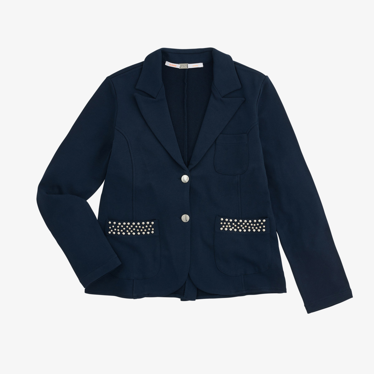 JACKET STUDS COTTON FL. NAVY BLUE
