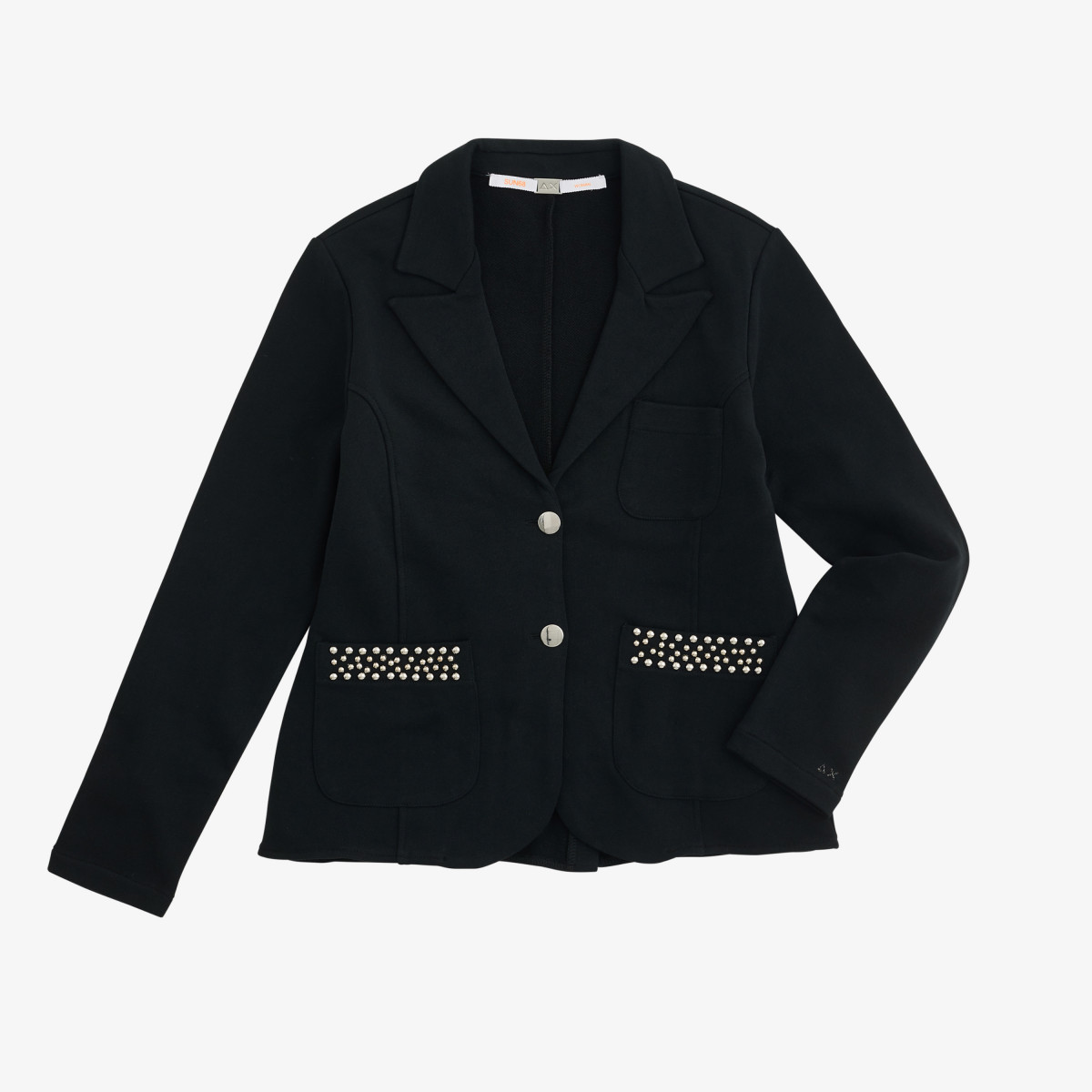 JACKET STUDS COTTON FL. BLACK
