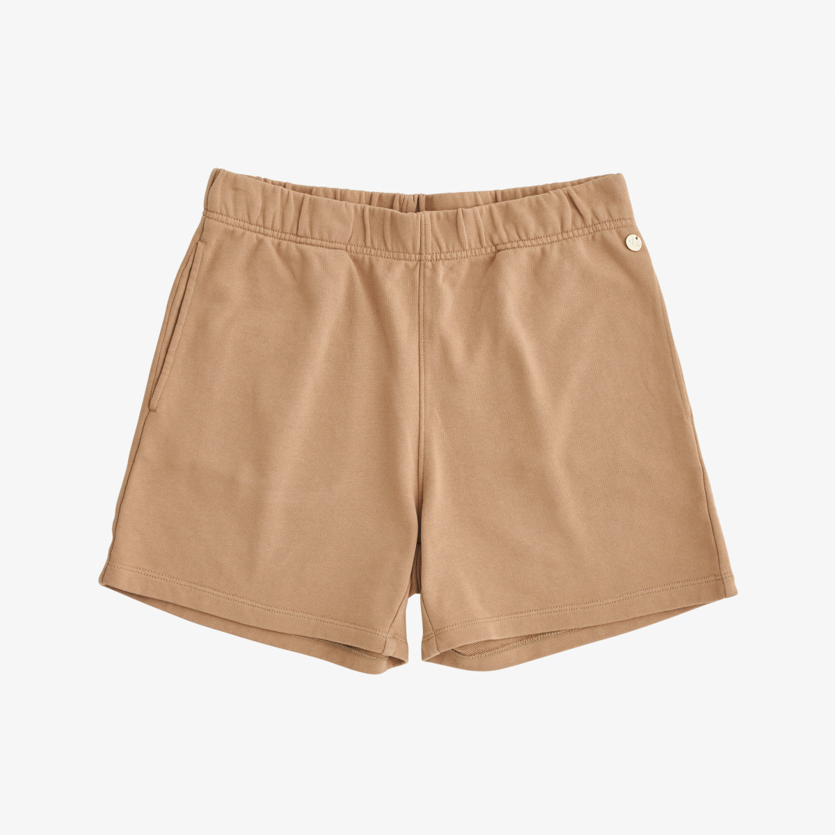 SHORT SOLID COTTON FL. NEW KHAKI
