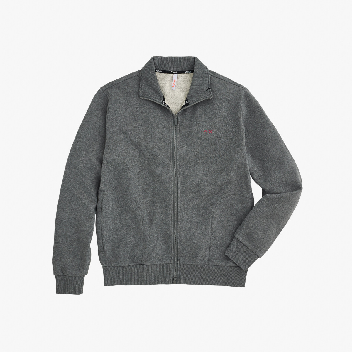 FULL ZIP COTTON FL MEDIUM GREY