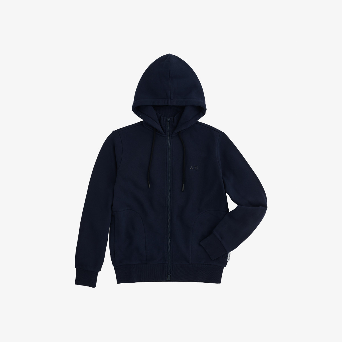 HOOD FULL ZIP COTTON FL NAVY BLUE