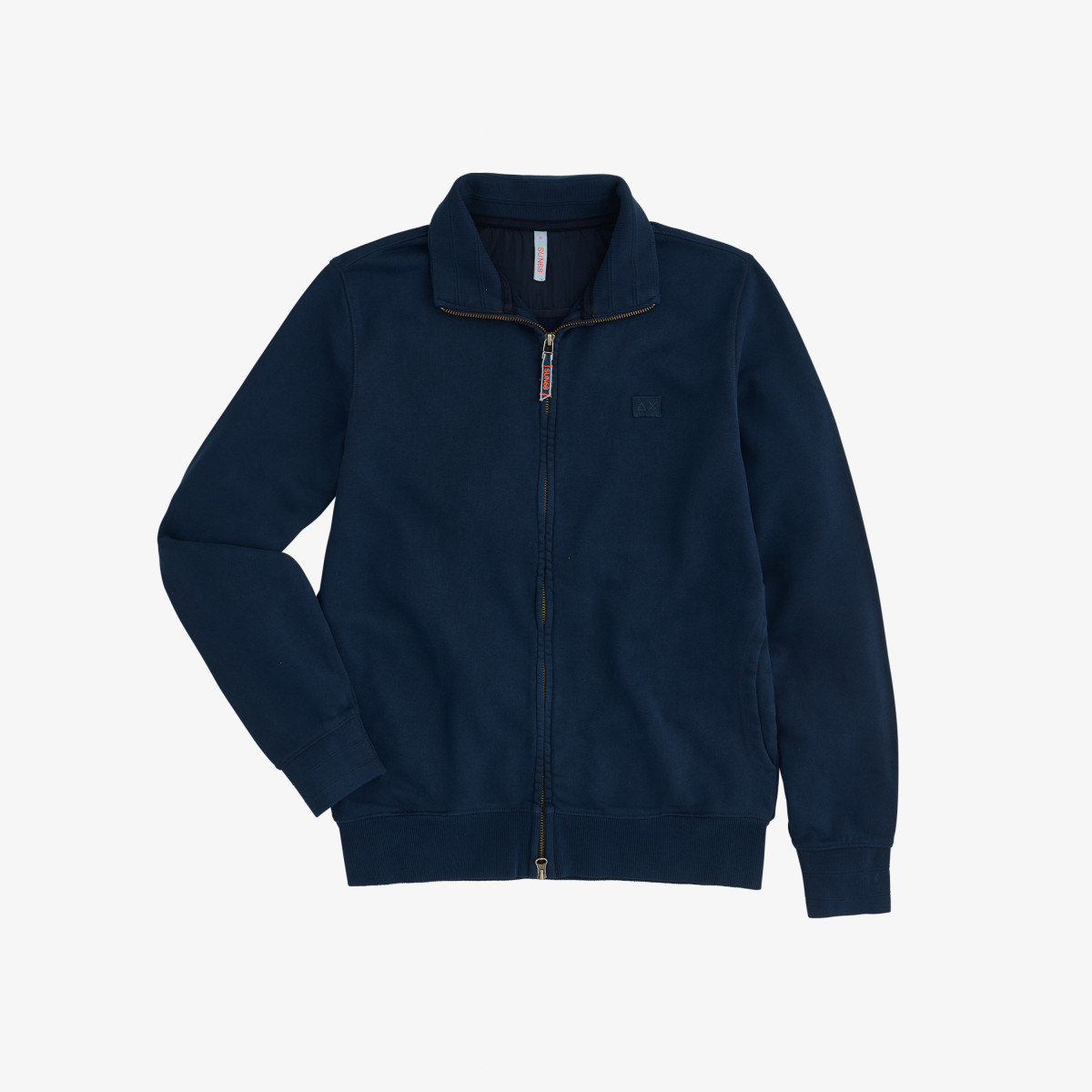 FULL ZIP GARMENT DYE COTTON FL NAVY BLUE
