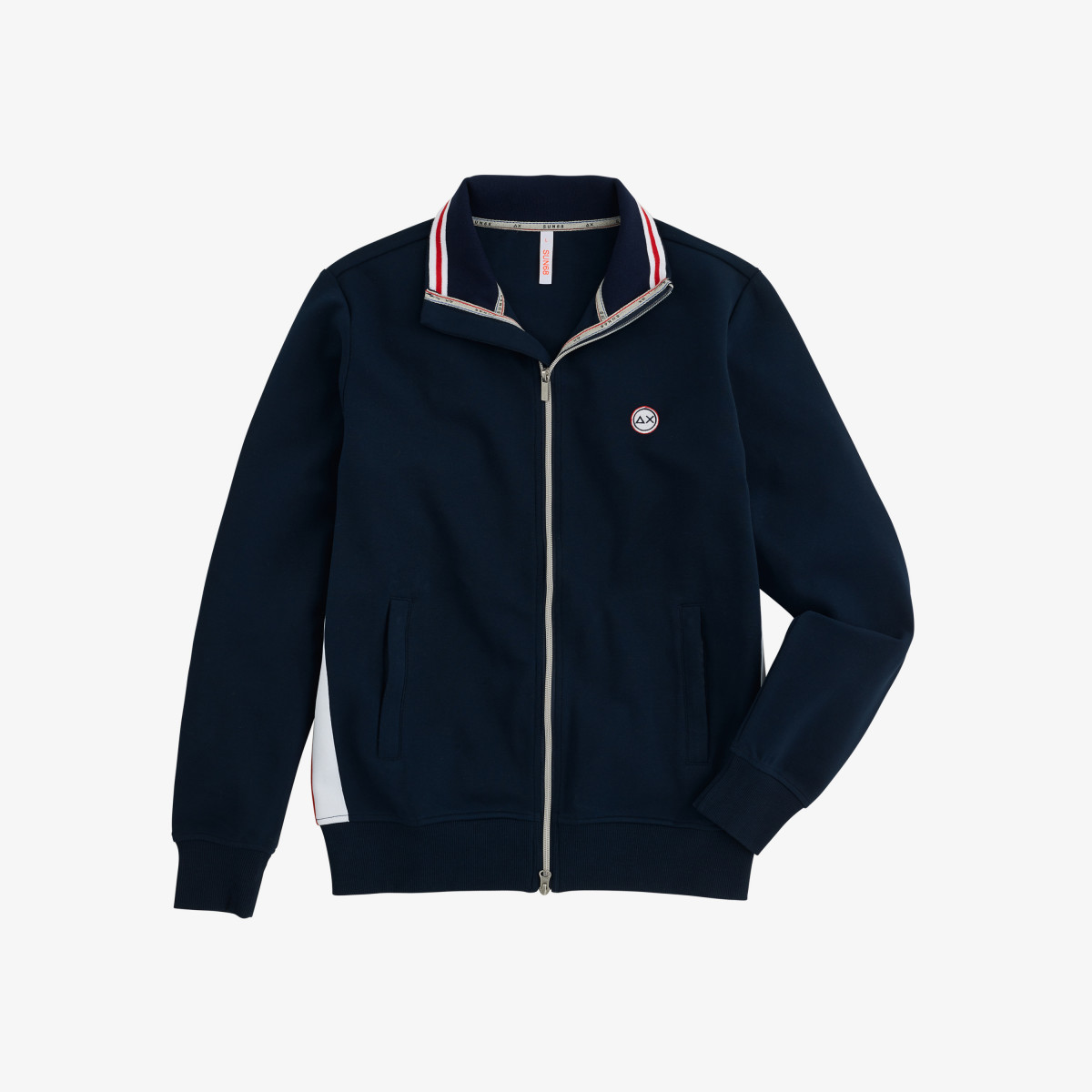 FULL ZIP HERITAGE COTTON FL NAVY BLUE
